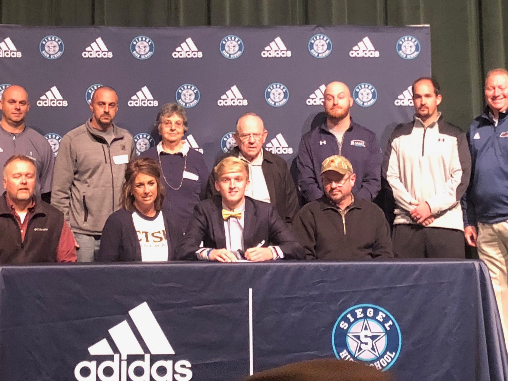 Siegel's Jaden Lasley signed with East Tennessee State to play baseball.