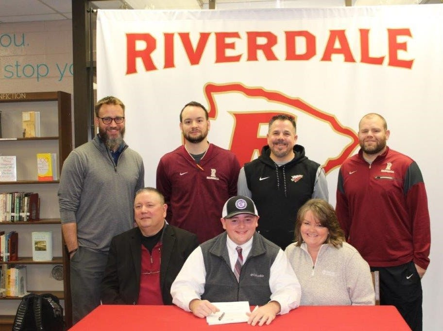 Riverdale's Johnny Powers signed with Trevecca to play baseball.