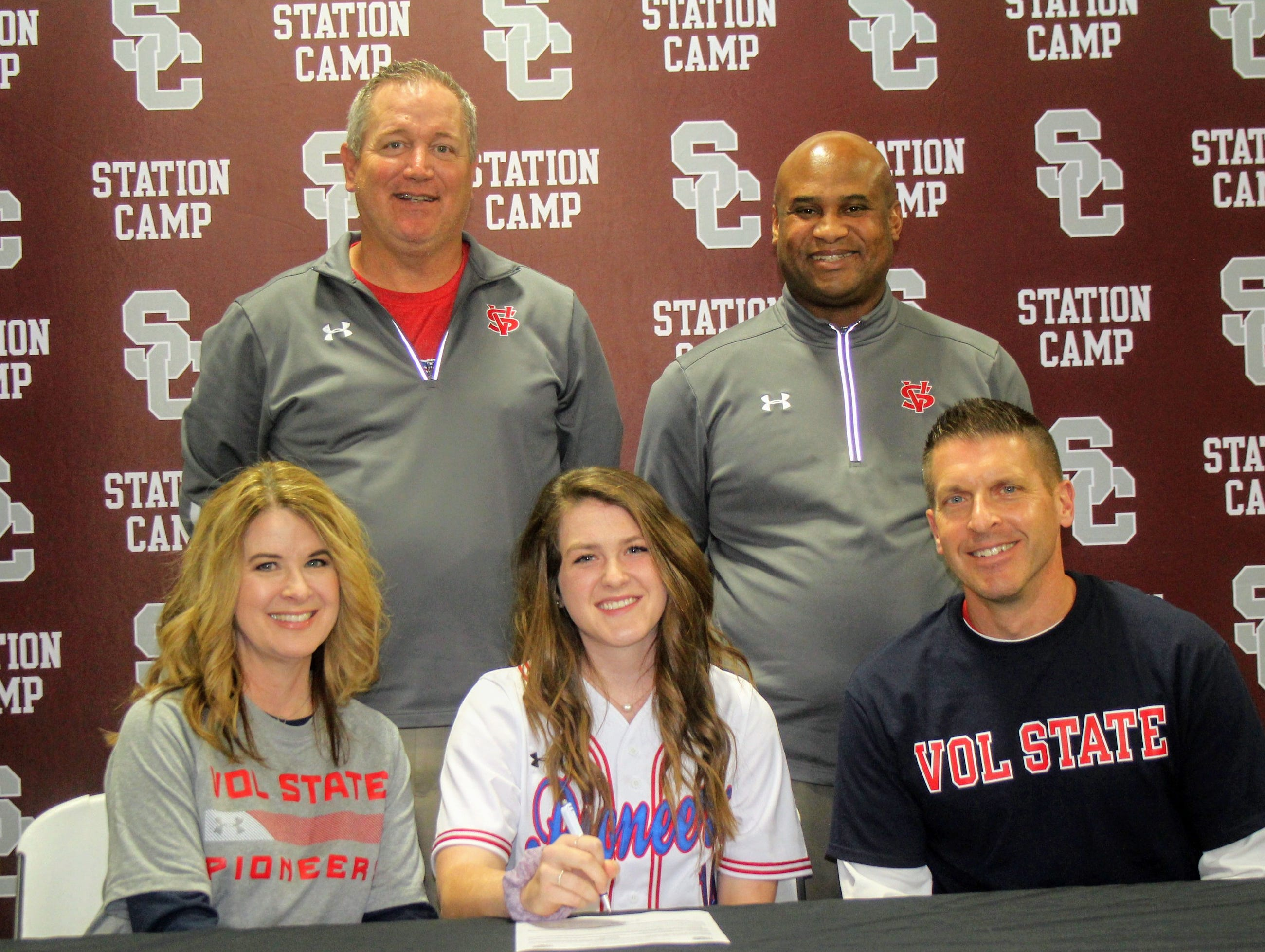 Station Camp's Addie Lange signed last week with Volunteer State. She is currently a senior and starting catcher.