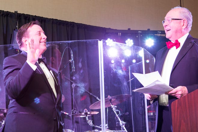 Williamson County builder Jimmy Franks was inducted by Franklin Mayor Ken Moore as the 2019 president of the Home Builders Association of Tennessee