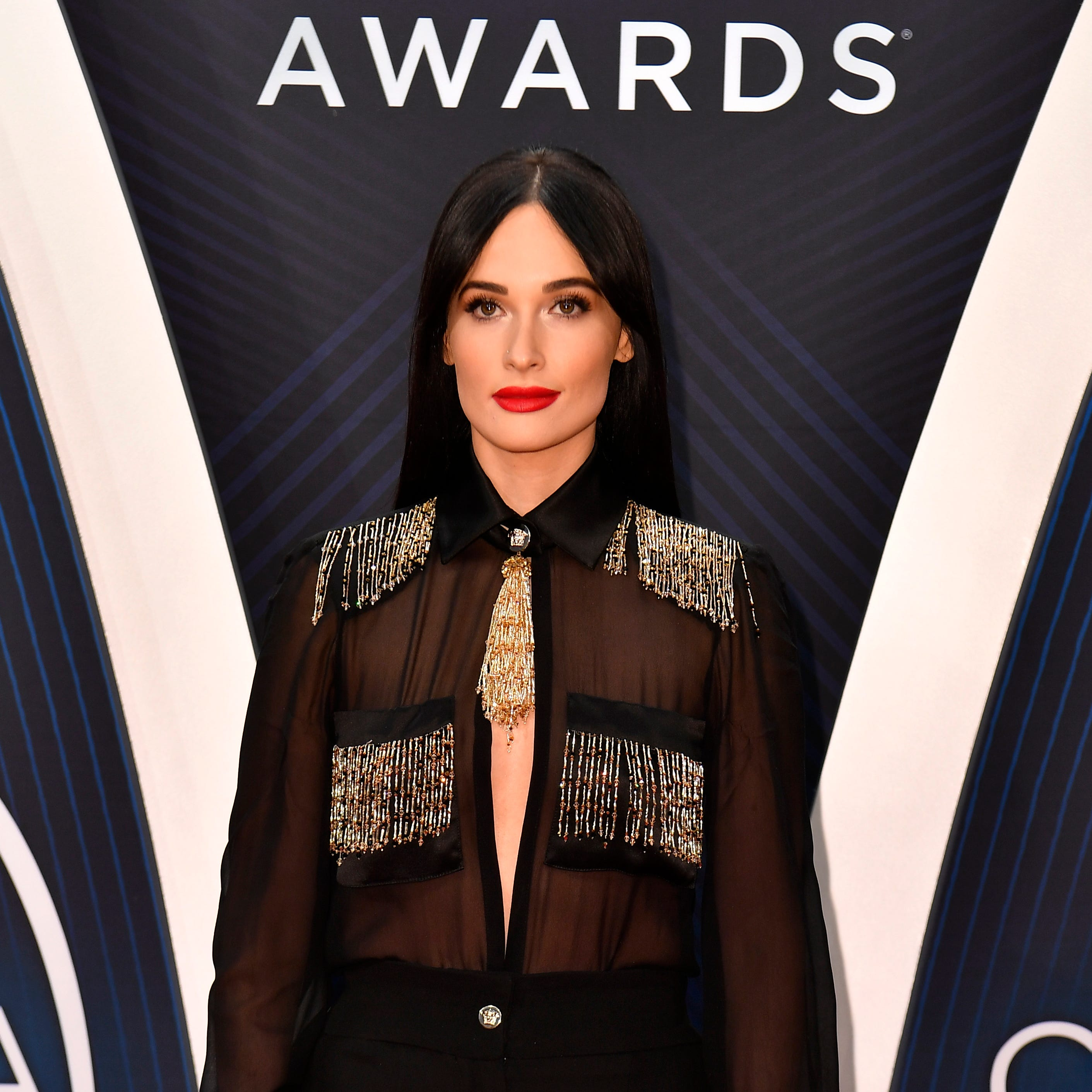 Kacey Musgraves on the red carpet before the 52nd...