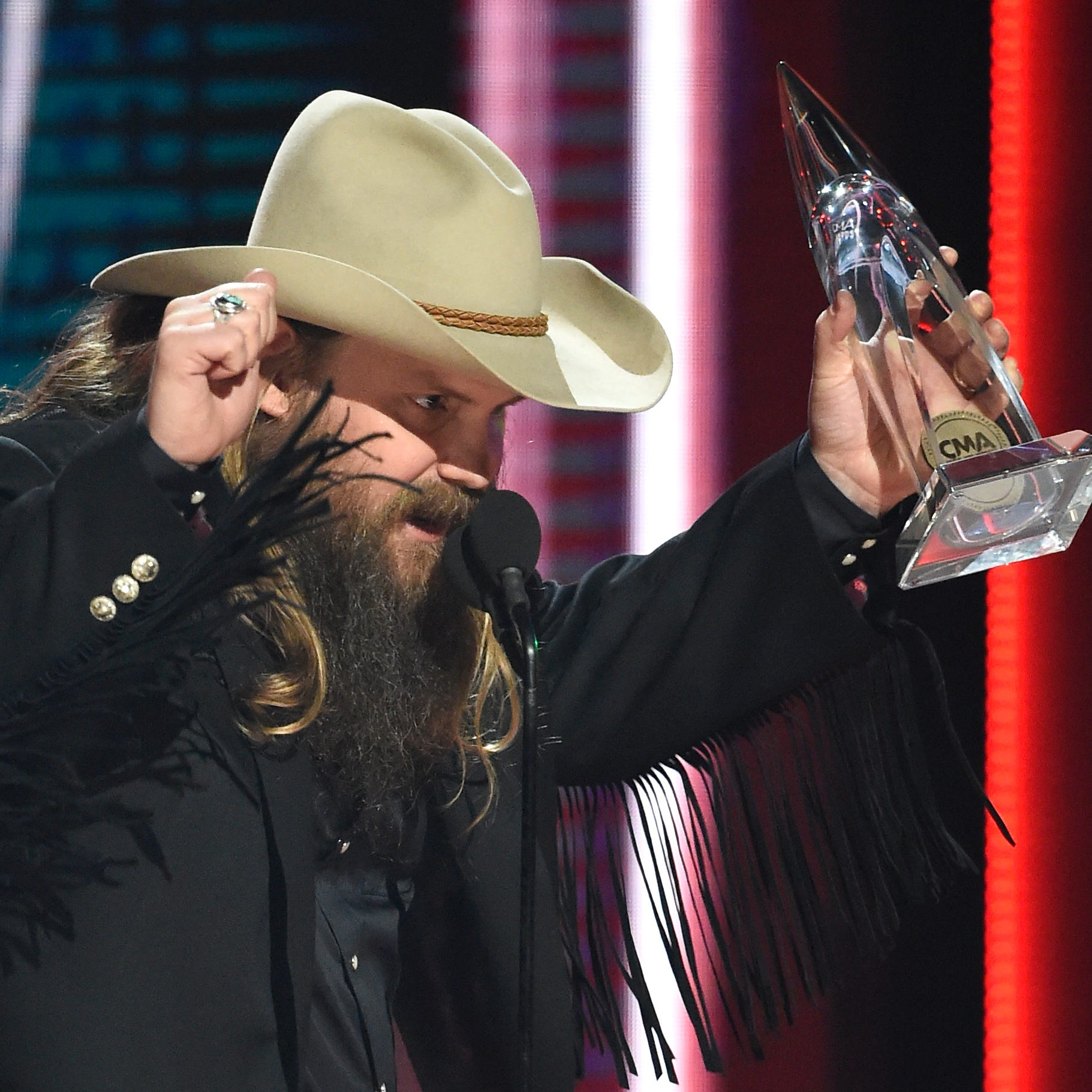 Kentucky native Chris Stapleton wins big at CMAs 2018