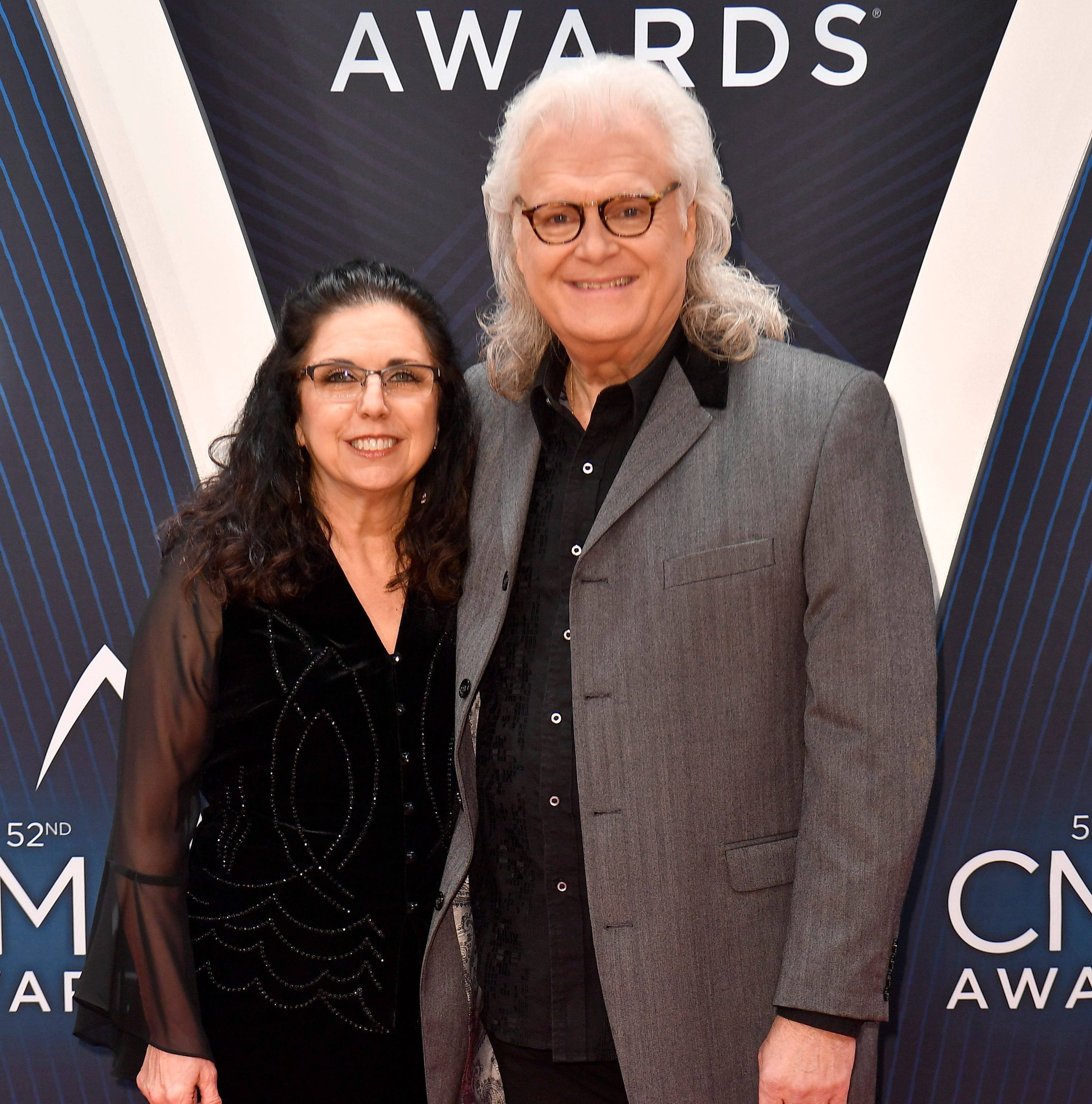 Ricky Skaggs and wife Sharon White on the red...