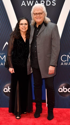 Ricky Skaggs and wife Sharon White on the red carpet before the 52nd Annual CMA Awards at Bridgestone Arena Wednesday, Nov. 14, 2018, in Nashville, Tenn.