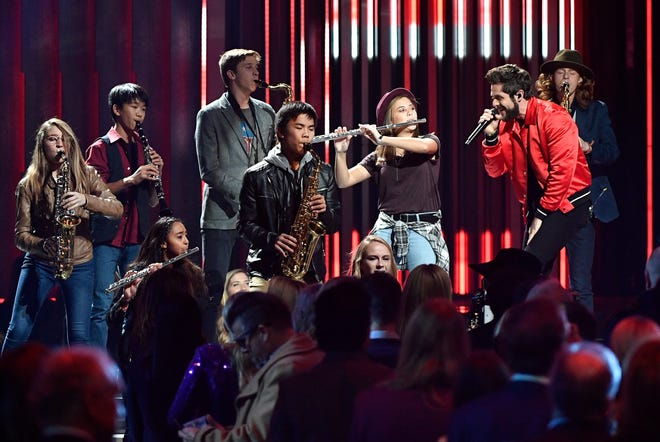 Thomas Rhett performs during the 52nd Annual CMA Awards at Bridgestone Arena Wednesday, Nov. 14, 2018, in Nashville, Tenn.