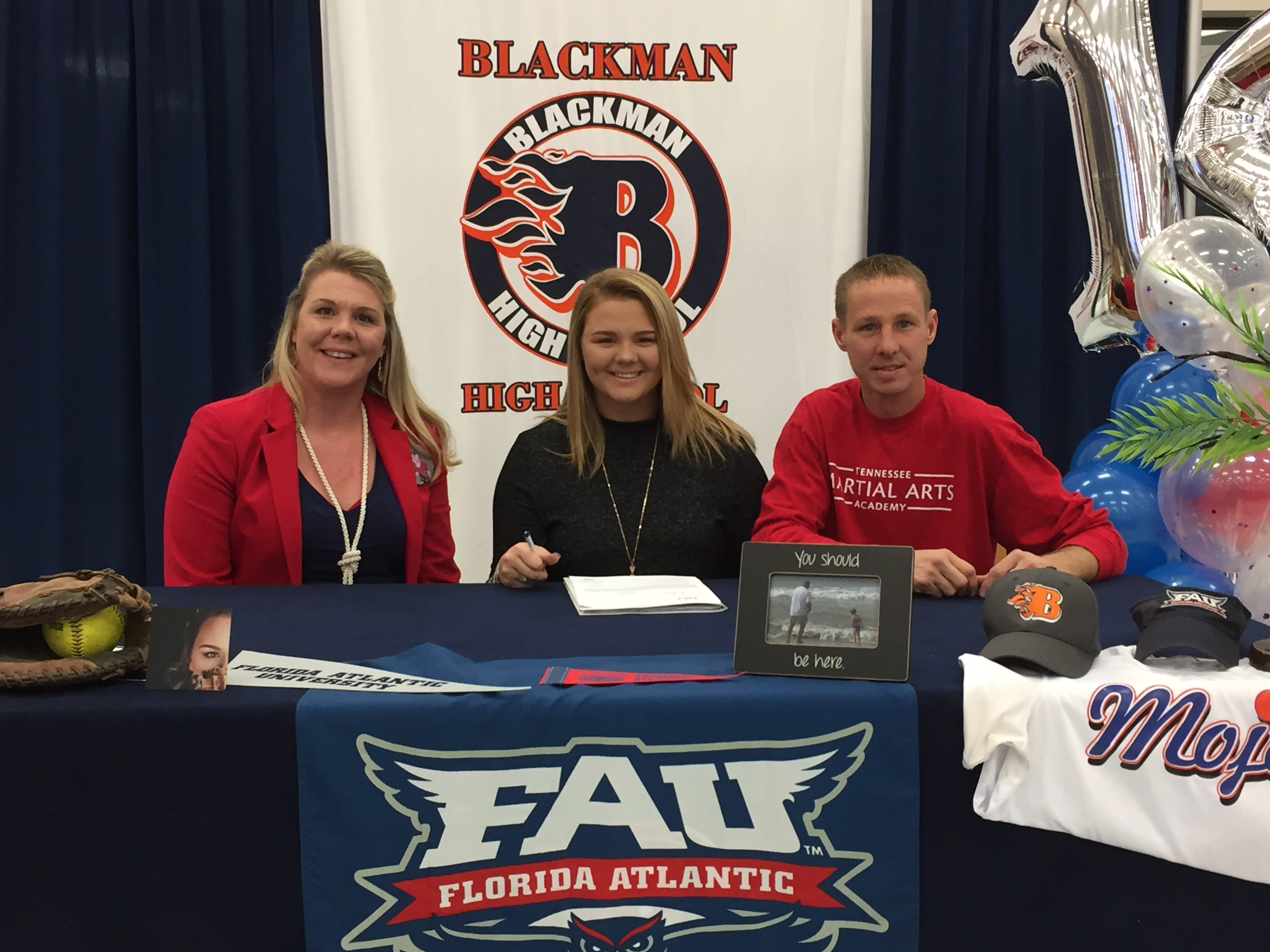 Blackman's Rachel Tarpley signed with Florida Atlantic to play softball