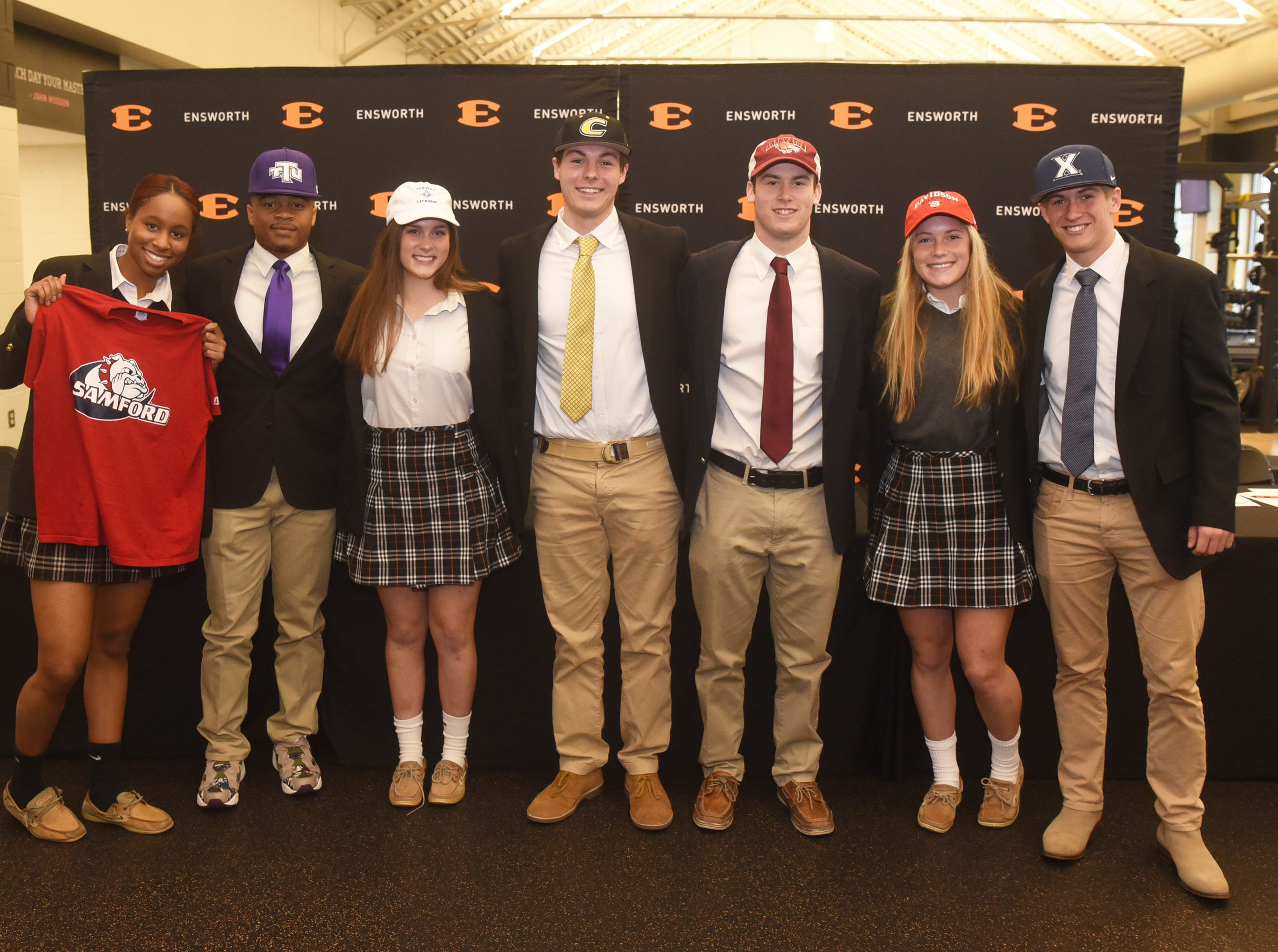 Ensworth athletes that signed on Wednesday include JaTorria Lee (Samford track), Elijah Brooks (Tennessee Tech baseball), McClean Whitson (Furman lacrosse), Gage Young (Centre College baseball), Patrick Vandenbergh (Lafayette baseball), Hailey Braemer (Davidson soccer) and Garrett Schultz (Xavier baseball).
