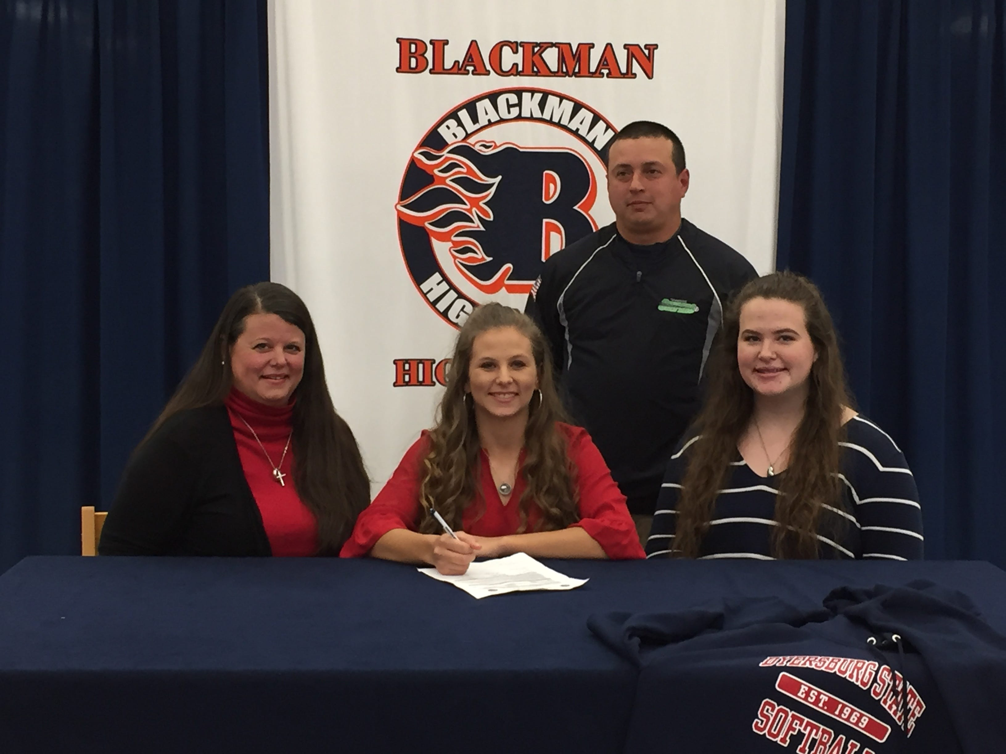 Blackman's Karly Donaldson signed with Dyersburg State.