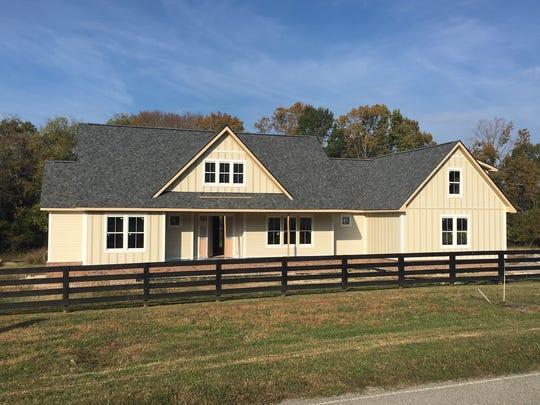 This spec home under construction by Carbine & Associates in Water Leaf in Franklin is being built because clients requested more one-story options.