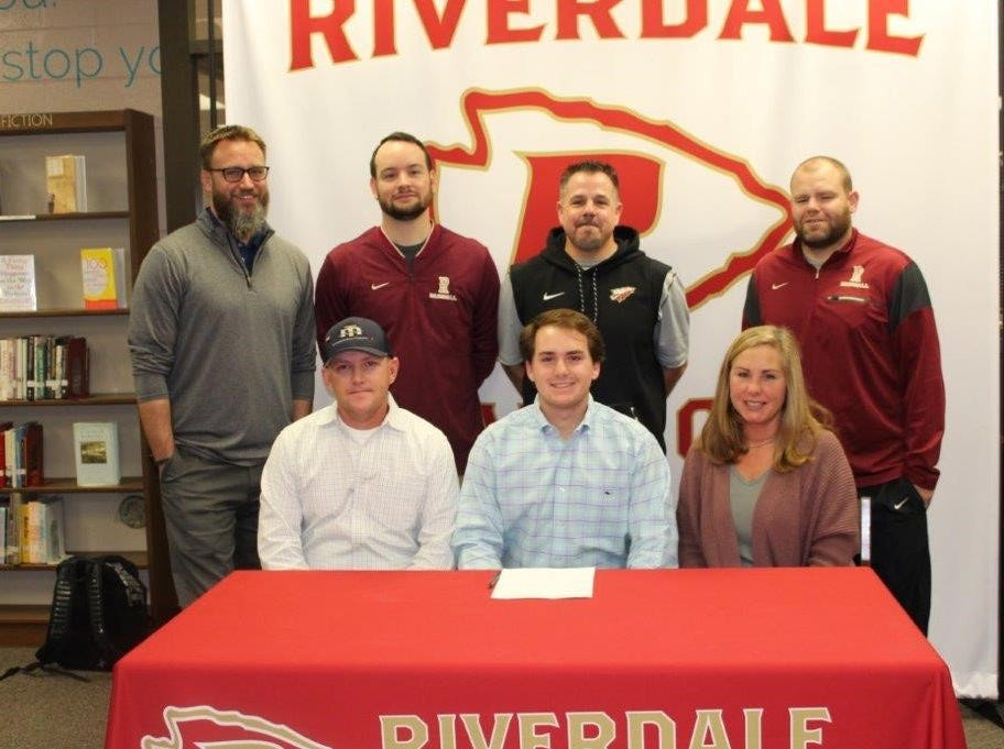 Riverdale's Paxton Hughes signed with Motlow State to play baseball.