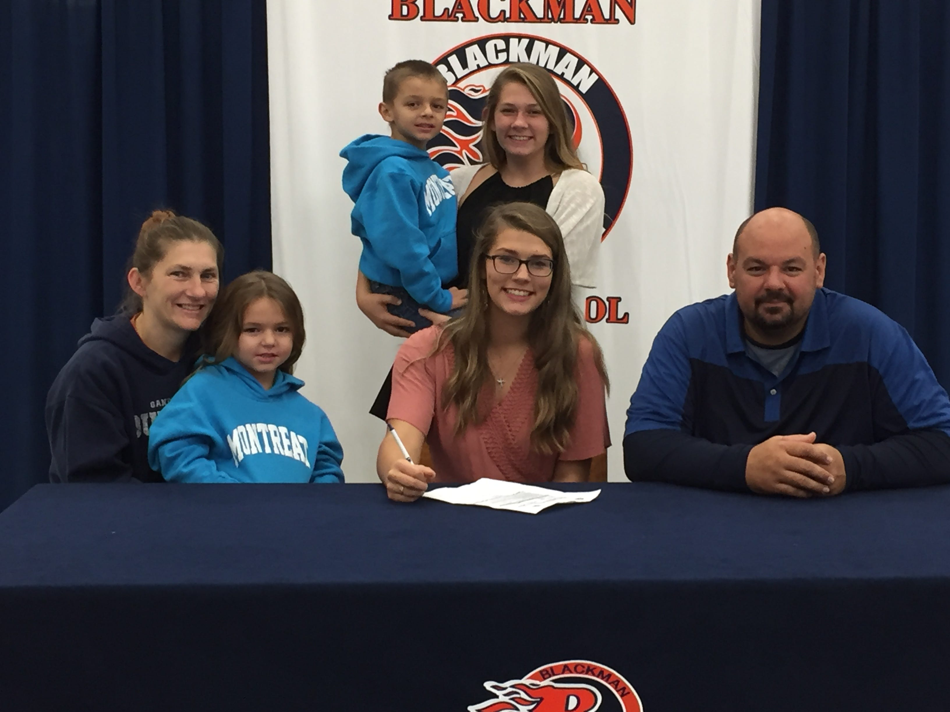 Blackman's Alissa Hart signed with Montreat College to play softball.