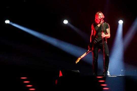 Keith Urban performs during the 52nd Annual CMA Awards at Bridgestone Arena Wednesday Nov. 14, 2018, in Nashville, Tenn.