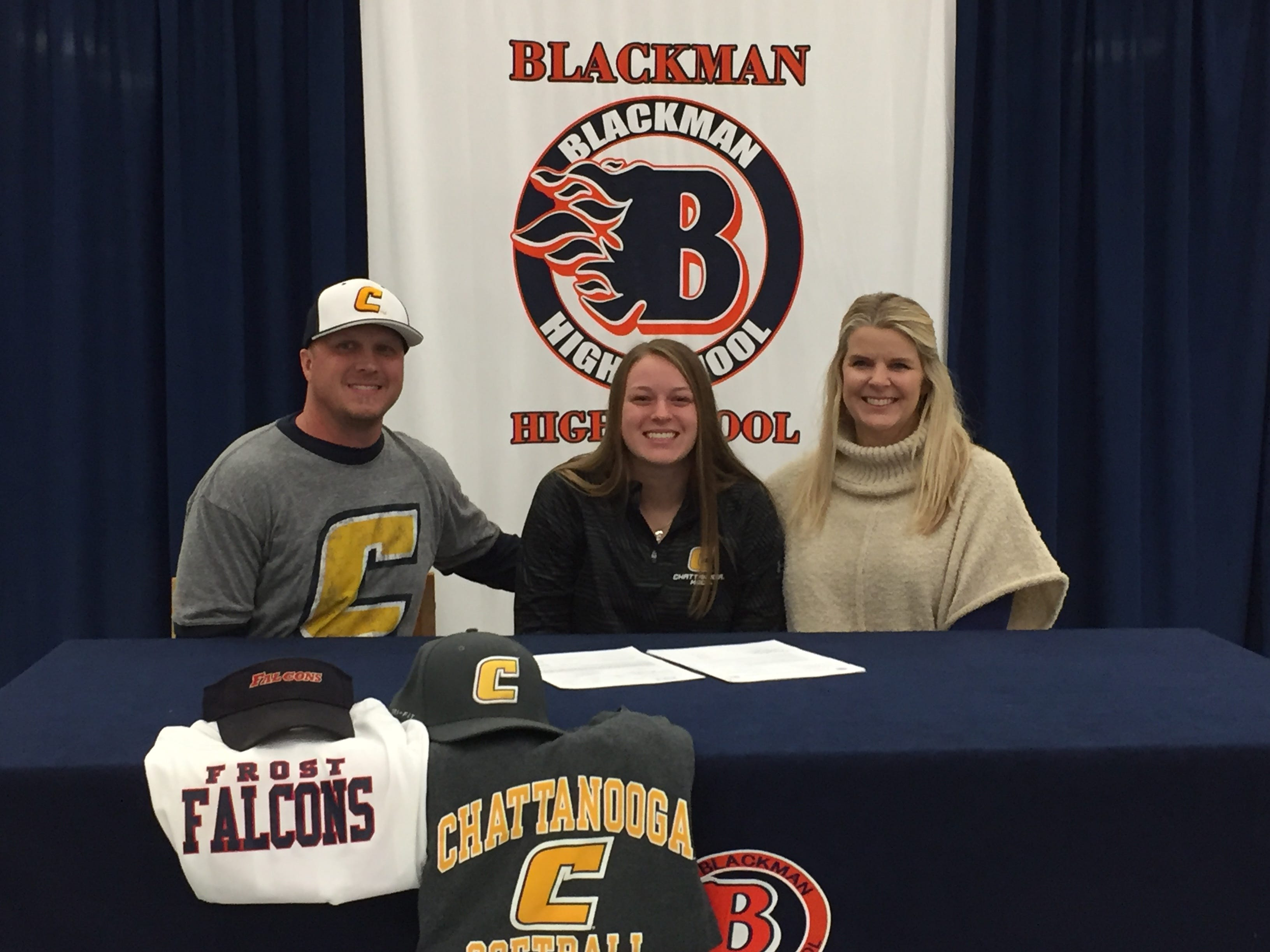 Blackman's Kendall Andrews signed with Chattanooga to play softball.