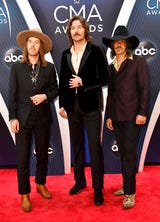 Midland stops on the CMA Awards red carpet to talk to the Tennessean's Cindy Watts and Dave Paulson.