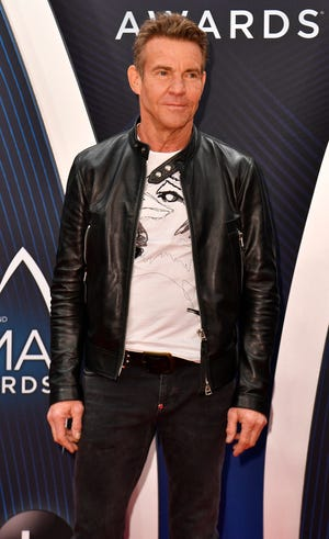 Dennis Quaid on the red carpet before the 52nd Annual CMA Awards at Bridgestone Arena Wednesday, Nov. 14, 2018, in Nashville, Tenn.
