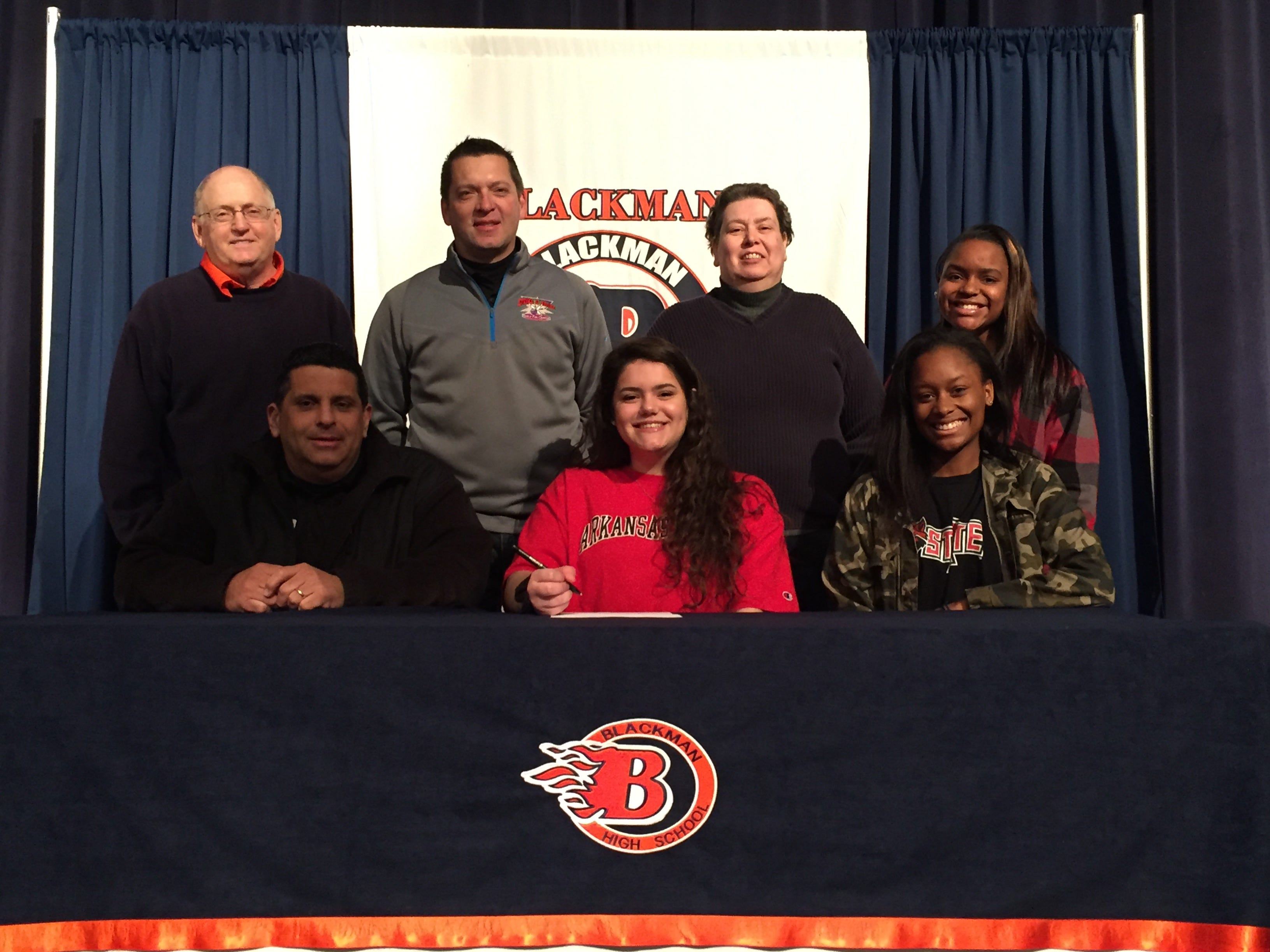 Blackman's Sarah Sanes signed with Arkansas State for bowling.
