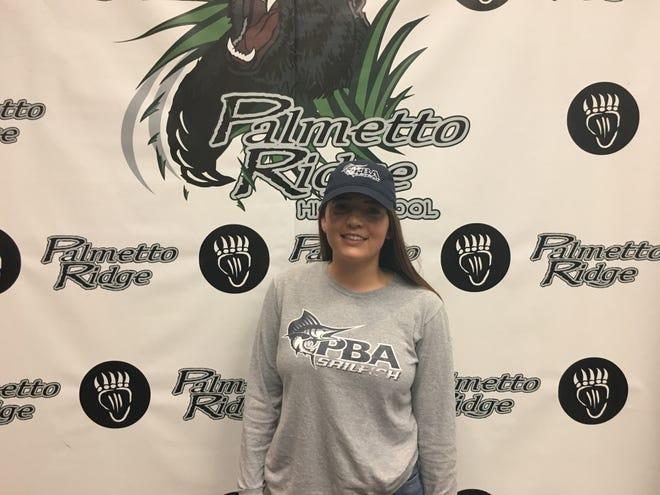 Palmetto Ridge's Alexus Turley signed her NLI to play soccer at Palm Beach Atlantic University on Thursday.