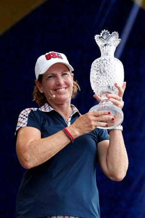 Juli Inkster, who won her second Solheim Cup in 2017 in Iowa, was in Naples this week meeting with potential members of the 2019 team.