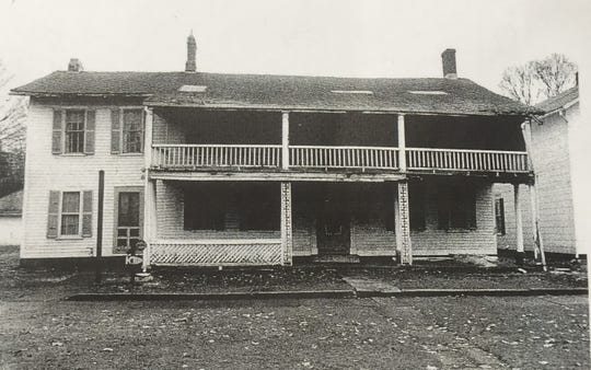 The Buxton Inn as it looked in the early 1970s, before the Orrs began the first restoration effort on the historic structure.