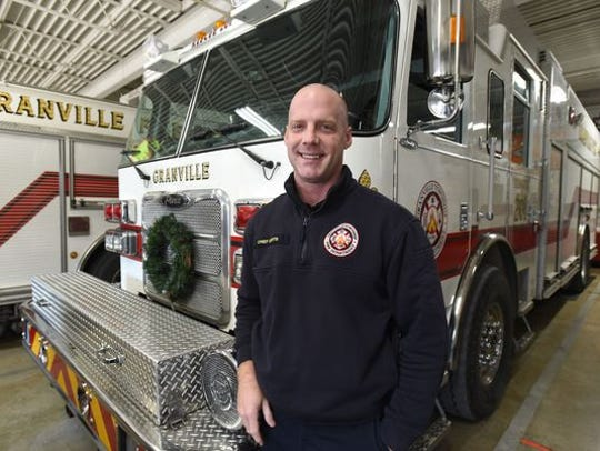 Granville Township Fire Chief Casey Curtis