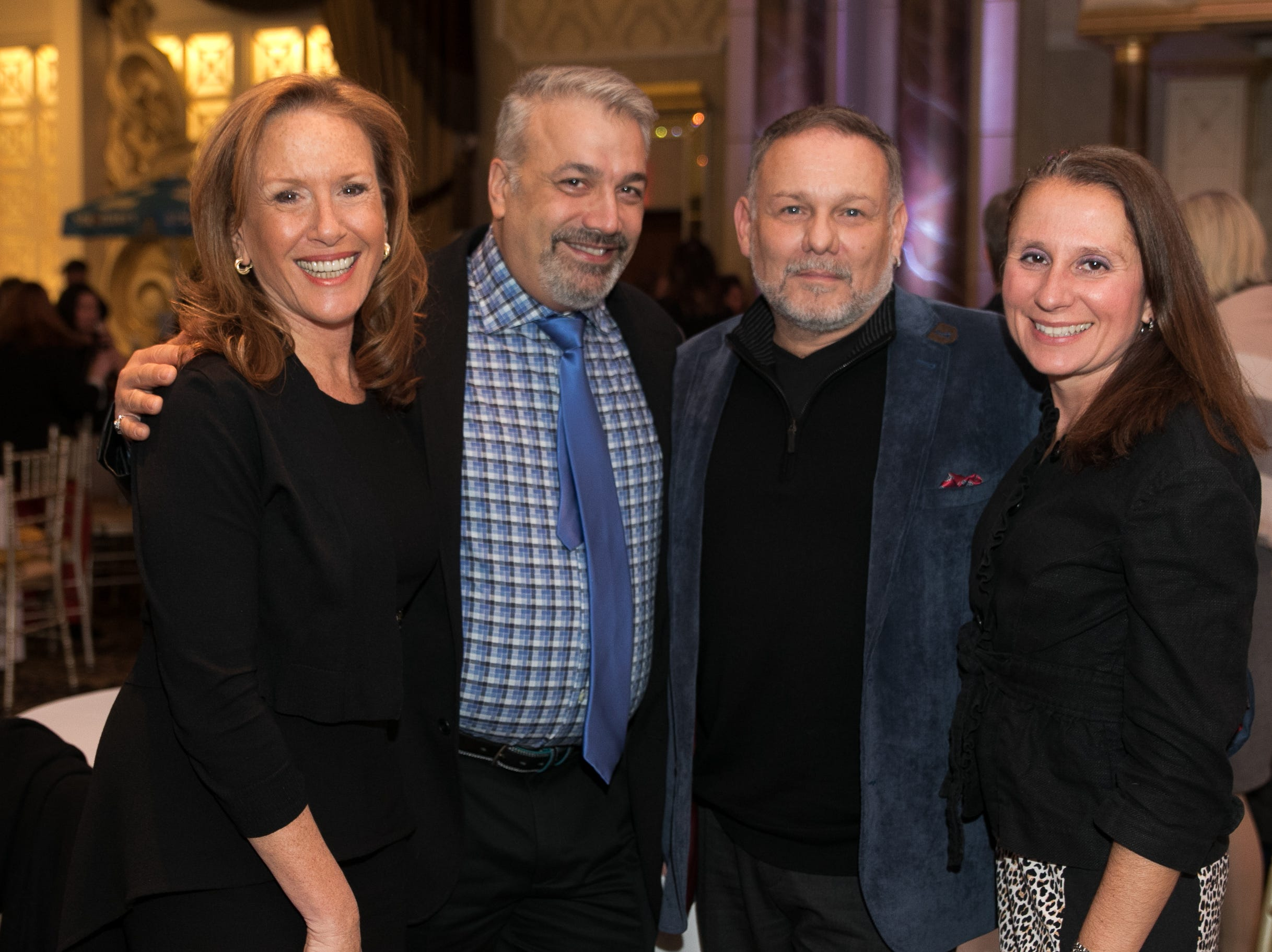 """Patti Kanner, Mark Santuoso, Alex Zaldivar, Sue Figalora. The New Bridge Medical Center Foundation held its 10th Annual """"A Taste of Bergen"""" at The Venetian in Garfield. The evening featured celebrity chef Chris Holland, the 2017 Grand Champion of the Food Network's """"Chopped."""" 11/12/2018"""