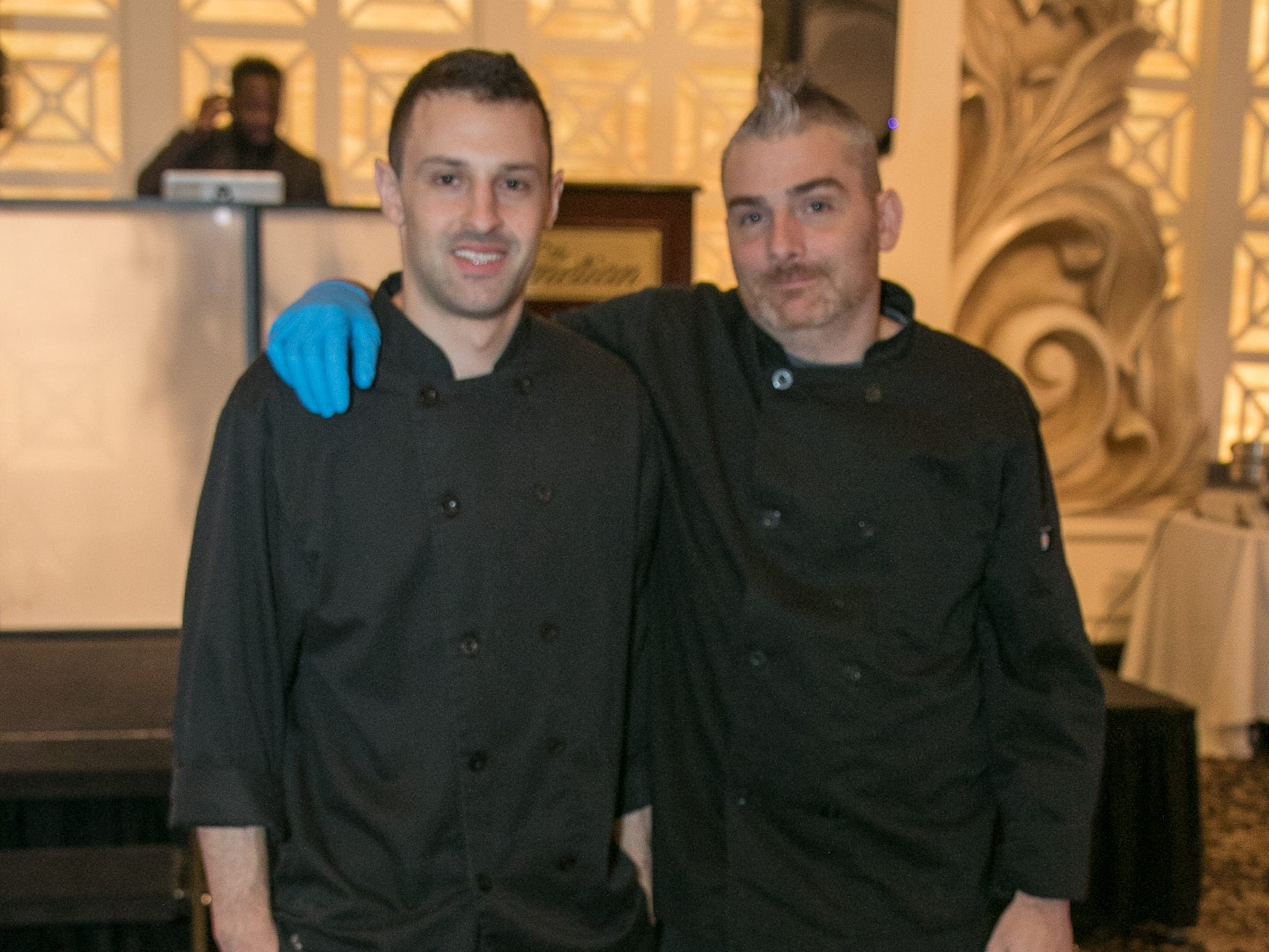 """Greg Baumel and Celebrity Chef Chris Holland. The New Bridge Medical Center Foundation held its 10th Annual """"A Taste of Bergen"""" at The Venetian in Garfield. The evening featured celebrity chef Chris Holland, the 2017 Grand Champion of the Food Network's """"Chopped."""" 11/12/2018"""