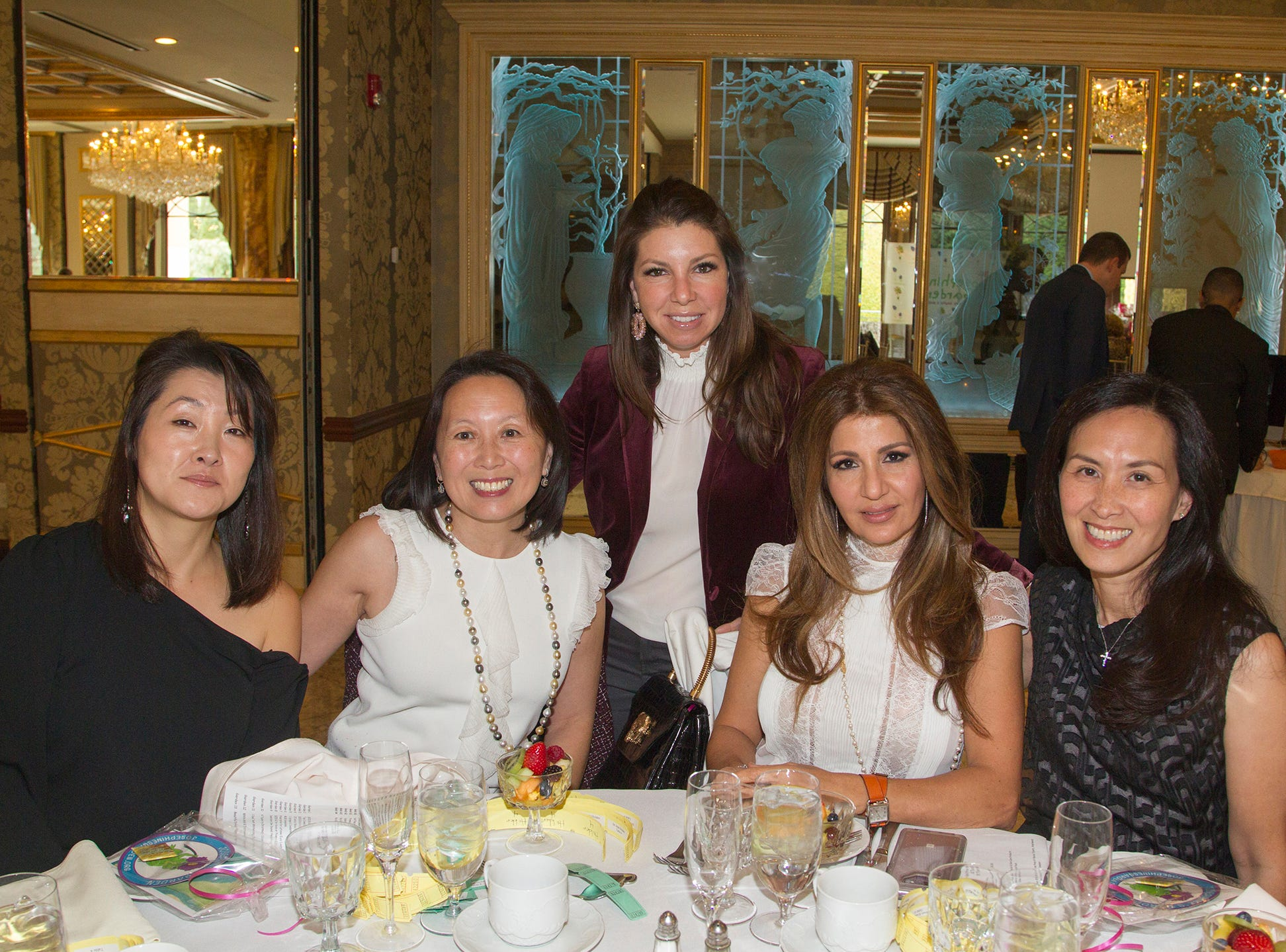 Jackie Park,  Jean Holden, Jaime Butta, Susan Koushatjian, Jean Hom. Josephine's Garden, part of Hackensack Meridian Health, held its luncheon gala at Season's in Washington Township. The mission of this organization is to provide a place of respite, joy and hope to children battling cancer. 11/14/2018