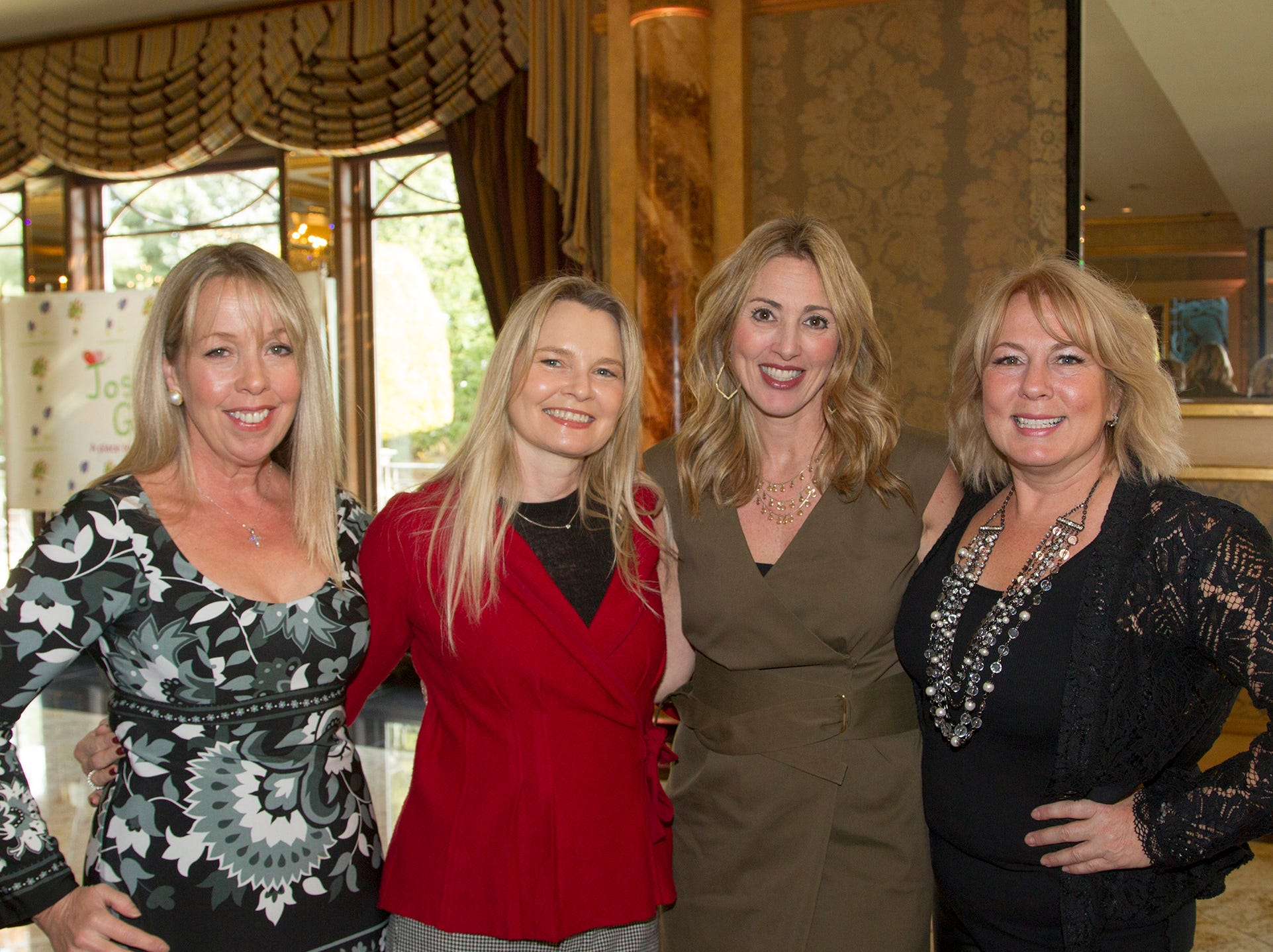 Suzy Antaki, Ute Detancourt, Lisa Cavallo, Heidi Rispoli. Josephine's Garden, part of Hackensack Meridian Health, held its luncheon gala at Season's in Washington Township. The mission of this organization is to provide a place of respite, joy and hope to children battling cancer. 11/14/2018