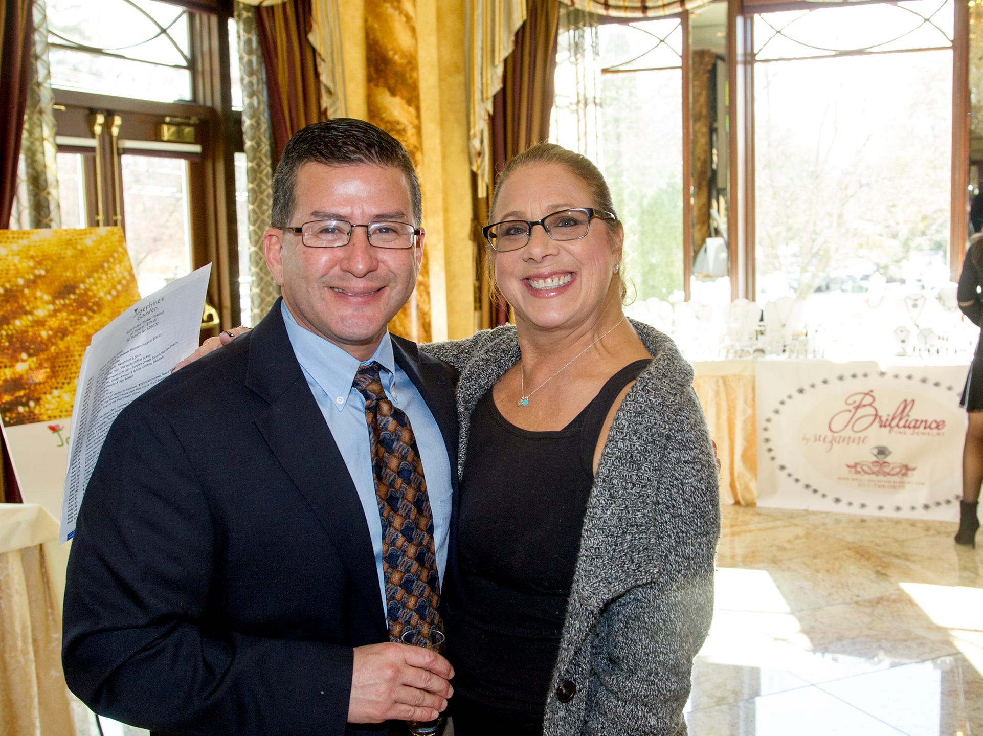 John Azua, Edie Orlando. Josephine's Garden, part of Hackensack Meridian Health, held its luncheon gala at Season's in Washington Township. The mission of this organization is to provide a place of respite, joy and hope to children battling cancer. 11/14/2018