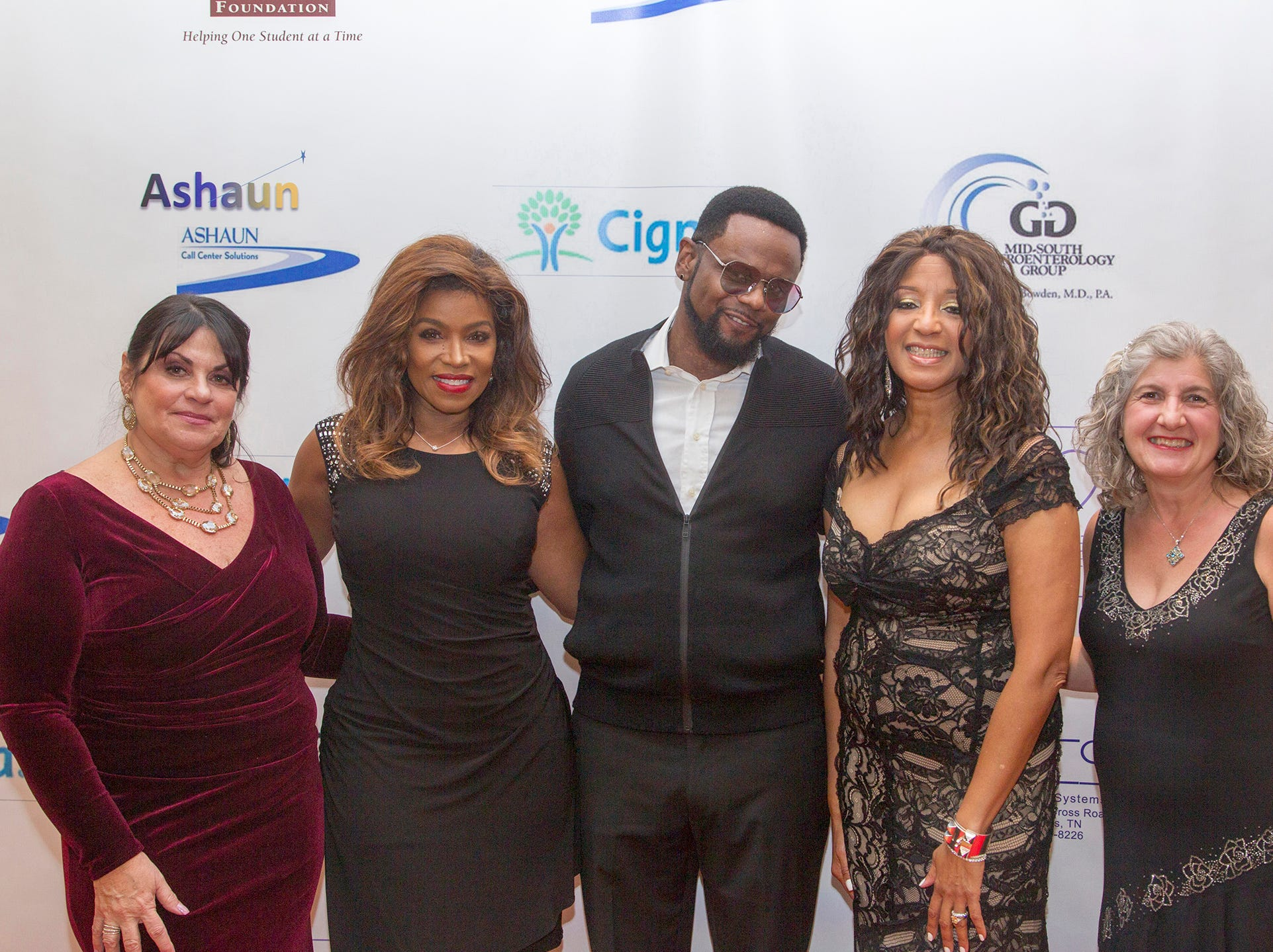 Leslie Vellios, Toni Yates, Carl THomas, Dr Sharon Banks-Williams,  . Jessie Banks Jessie Banks Foundation holds 16th annual Scholarship Awards Gala in Teaneck. 11/09/2018