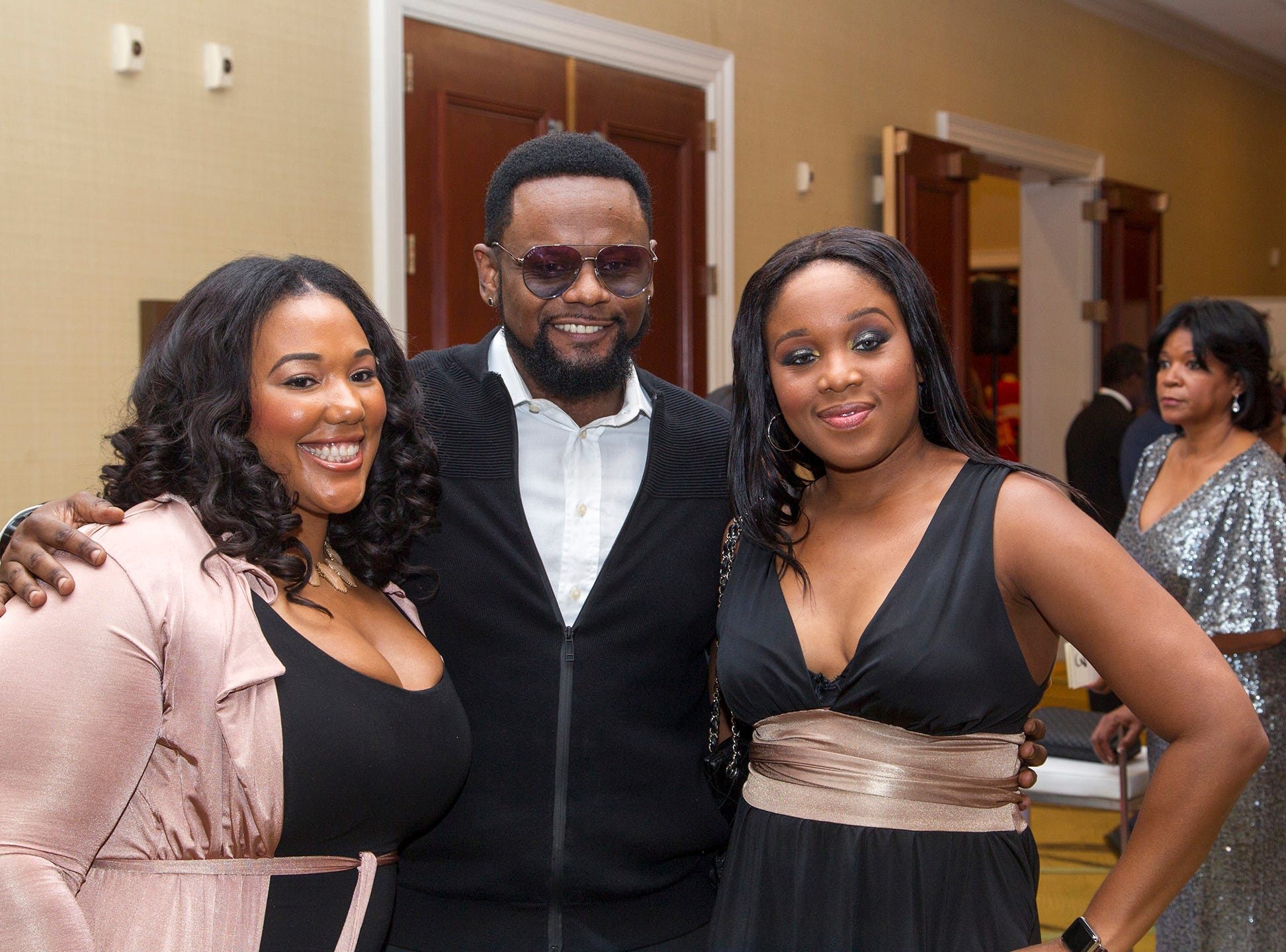 Shai, Carl Thomas, Nubia Siddiqu. Jessie Banks Foundation holds 16th annual Scholarship Awards Gala in Teaneck. 11/09/2018