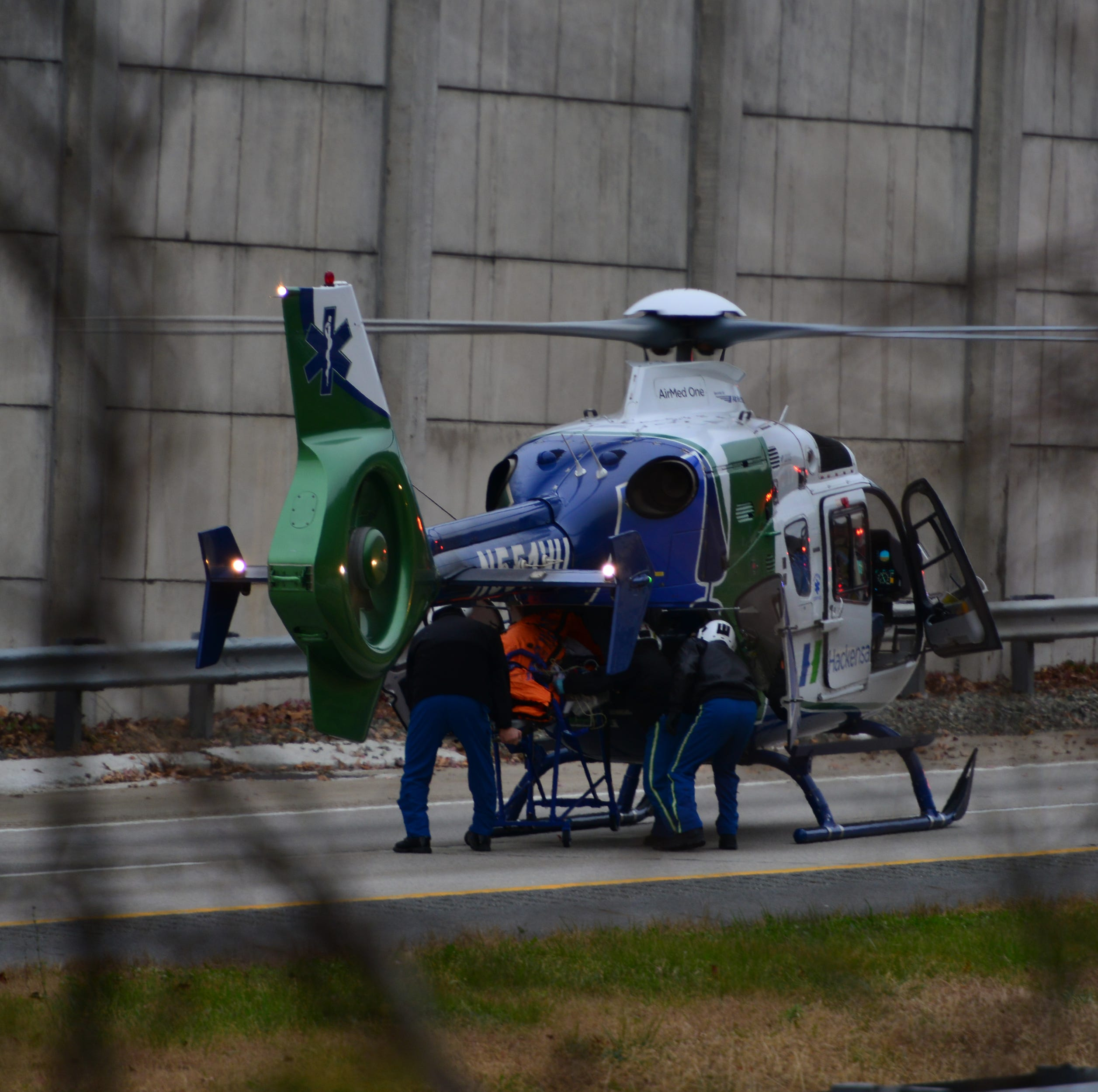 One taken away in helicopter after Mahwah Route 287 crash