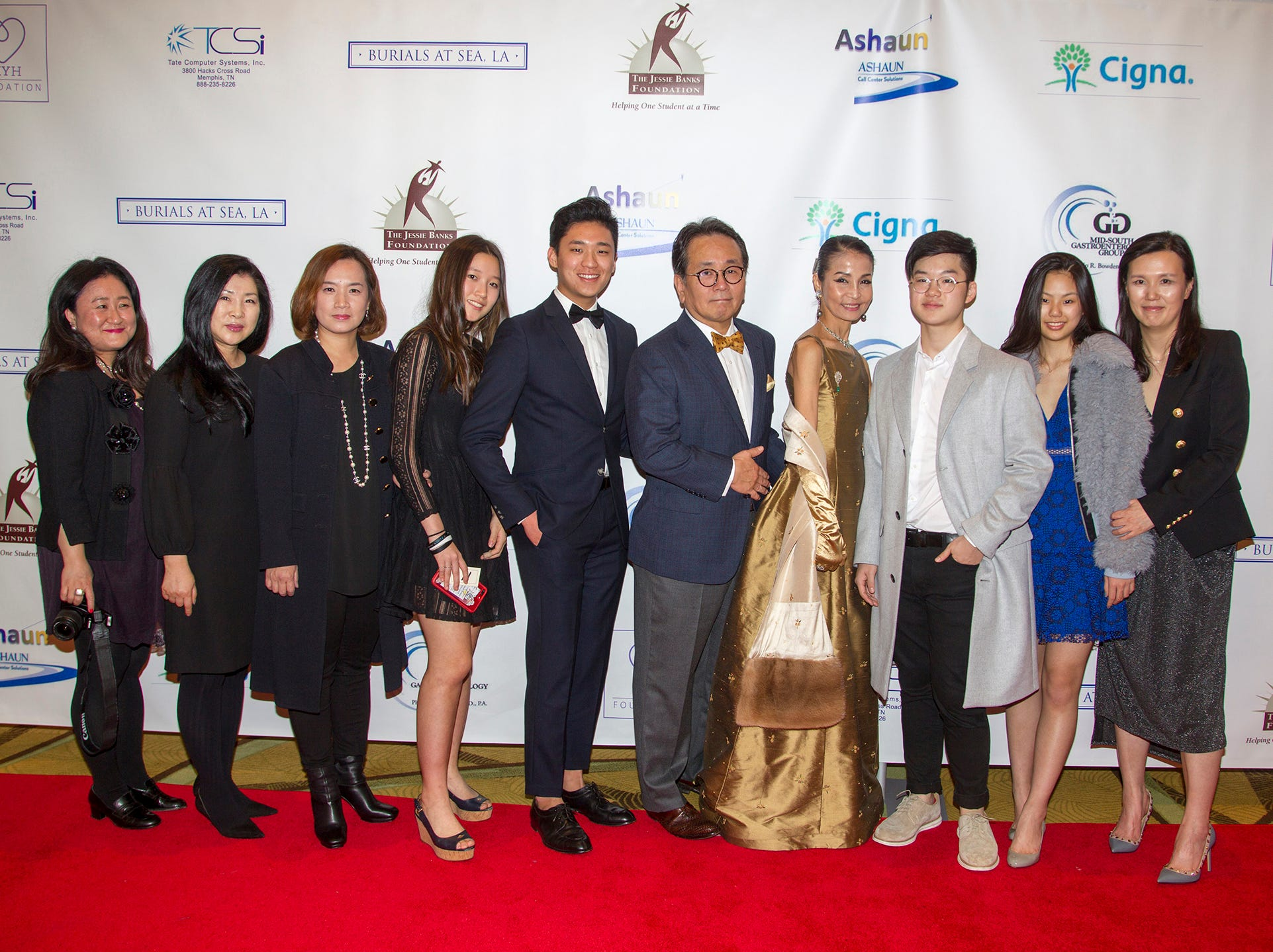 Center Dr. Mingi Choi and Heather Won Choi and Family. Jessie Banks Foundation holds 16th annual Scholarship Awards Gala in Teaneck. 11/09/2018