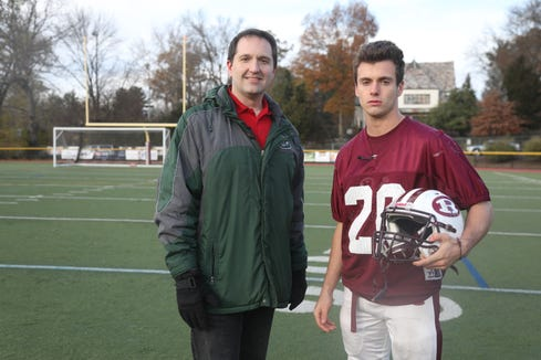 Greg Tartaglia and 100 Yards with Ridgewood fullback Will Cardew.