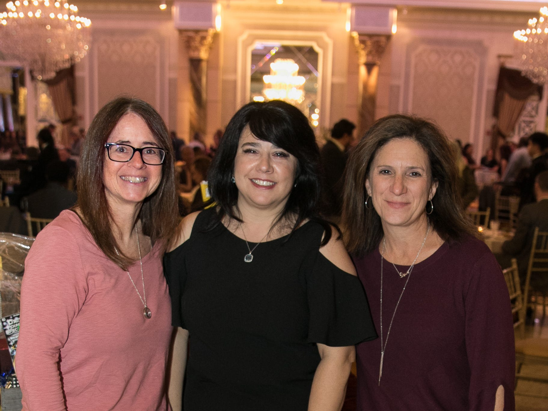 "Lisa Mortan, Lina Collota, Paula Pistachio. The New Bridge Medical Center Foundation held its 10th Annual ""A Taste of Bergen"" at The Venetian in Garfield. The evening featured celebrity chef Chris Holland, the 2017 Grand Champion of the Food Network's ""Chopped."" 11/12/2018"