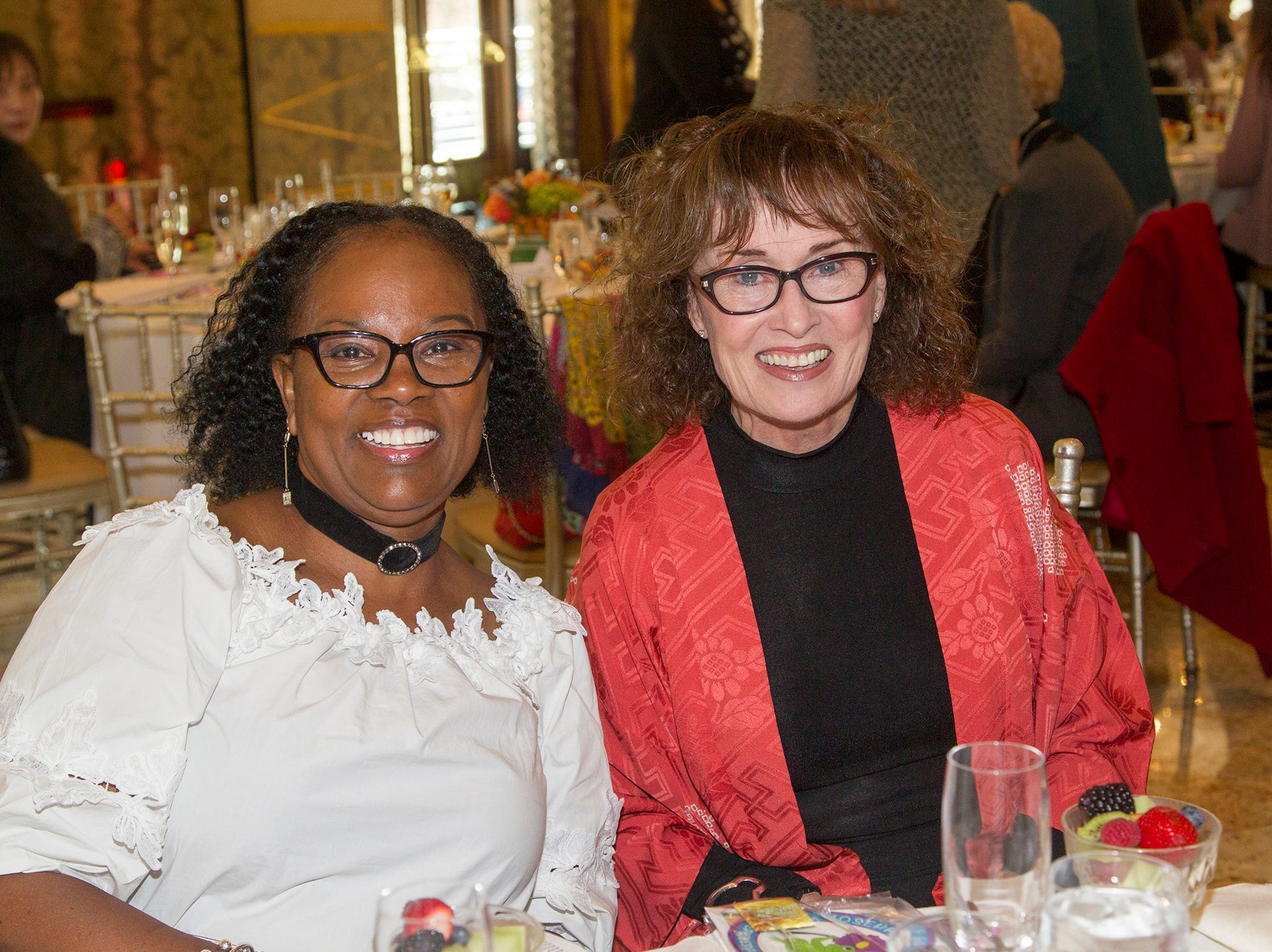 Pam Donovan, Cislyn Beckford. Josephine's Garden, part of Hackensack Meridian Health, held its luncheon gala at Season's in Washington Township. The mission of this organization is to provide a place of respite, joy and hope to children battling cancer. 11/14/2018