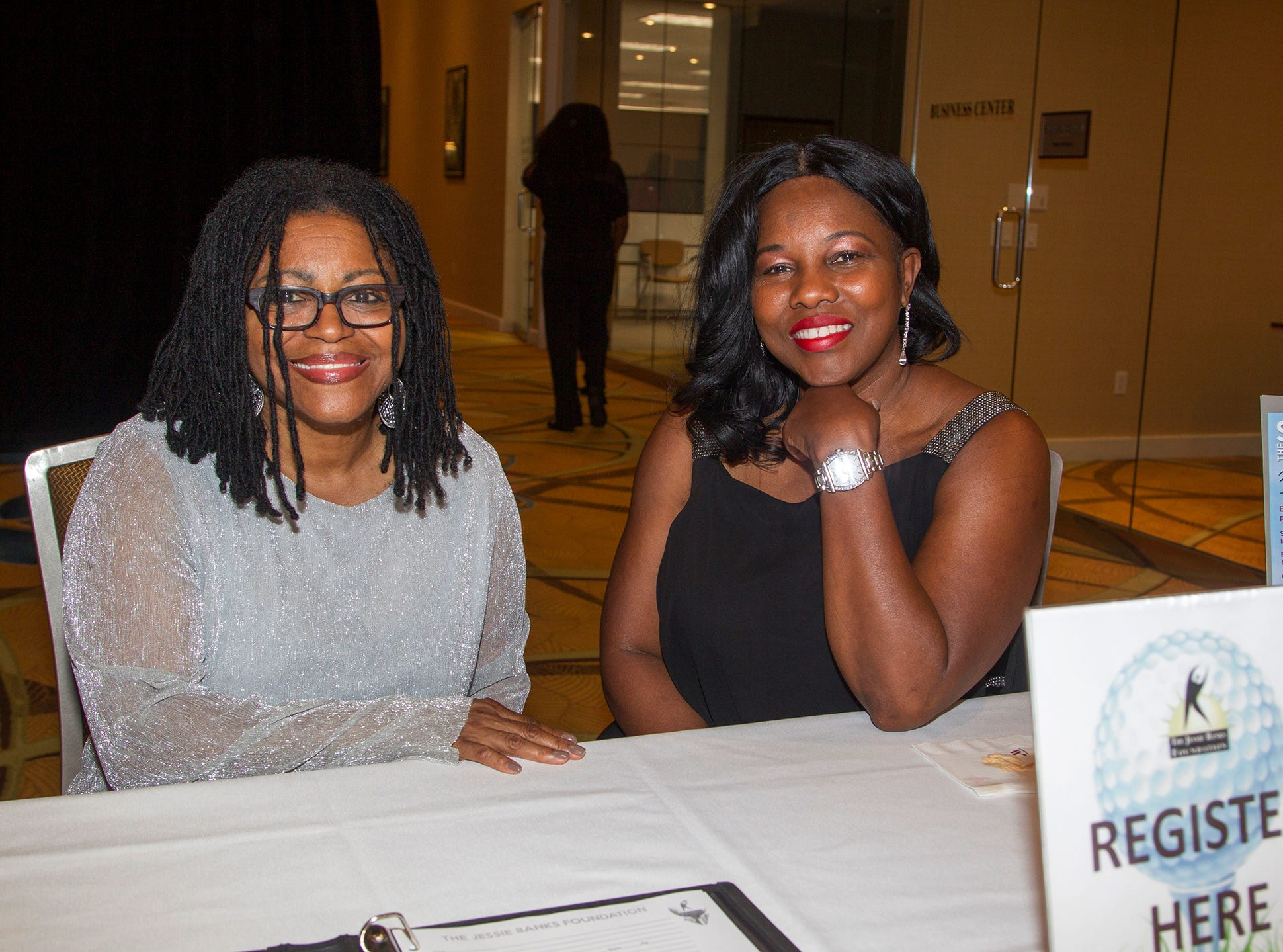 Denise Dixon, Cynthia Patterson. Jessie Banks Foundation holds 16th annual Scholarship Awards Gala in Teaneck. 11/09/2018