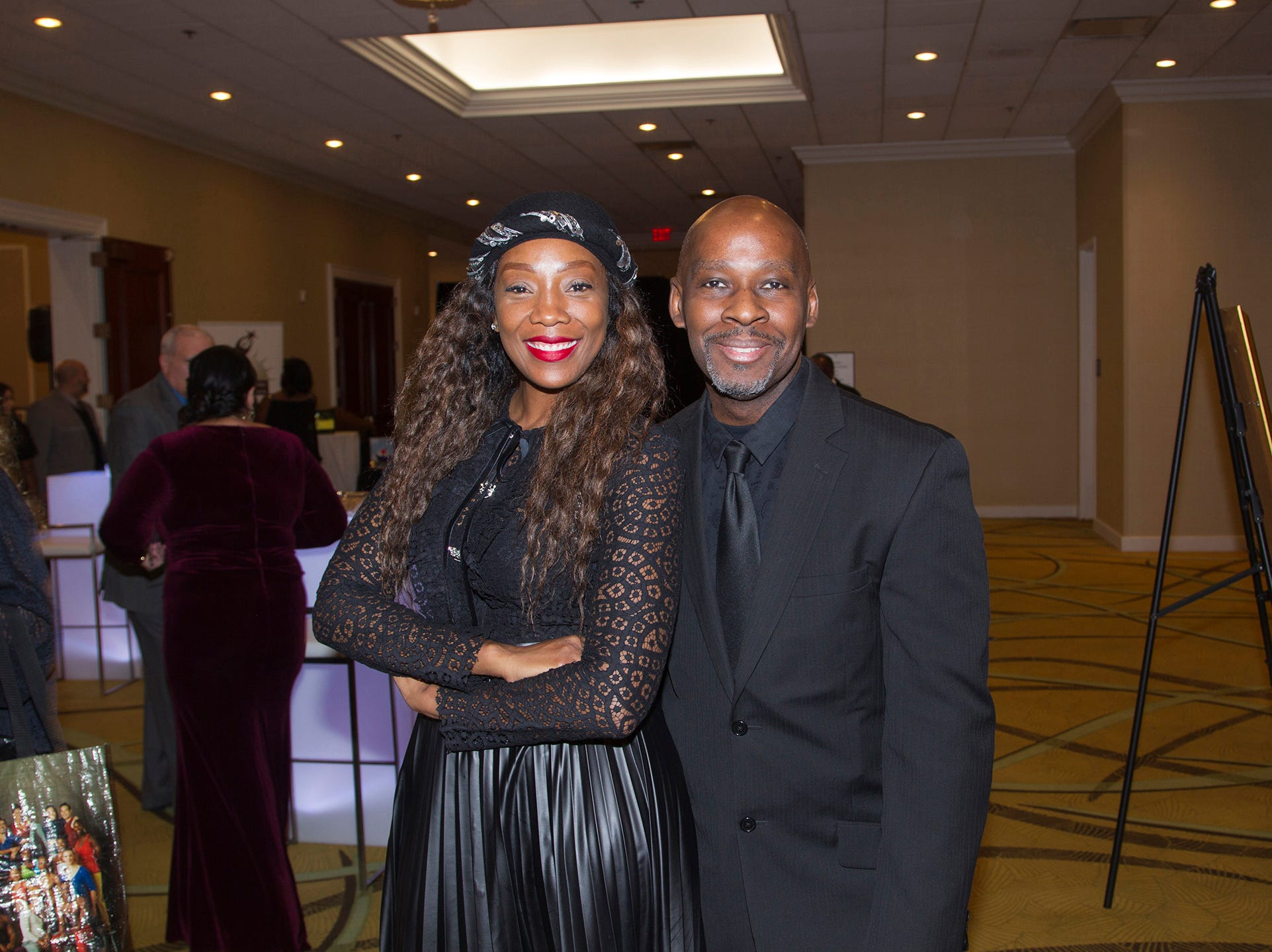 Roberta Bordeaux, Kevin Matthews.  Jessie Banks Foundation holds 16th annual Scholarship Awards Gala in Teaneck. 11/09/2018