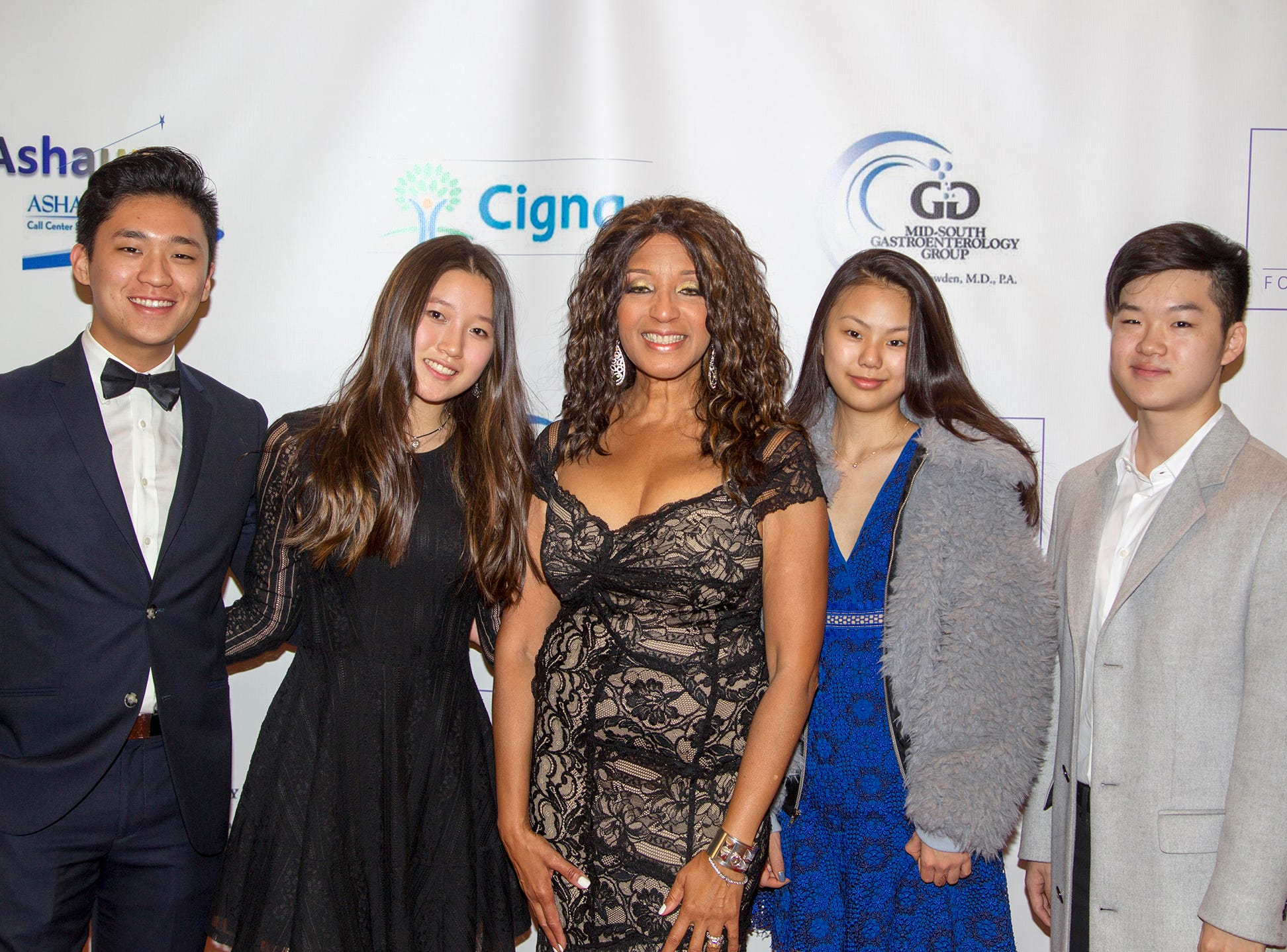 Dr. Sharon Banks-Williams center with JBF Scholars. Jessie Banks Foundation holds 16th annual Scholarship Awards Gala in Teaneck. 11/09/2018
