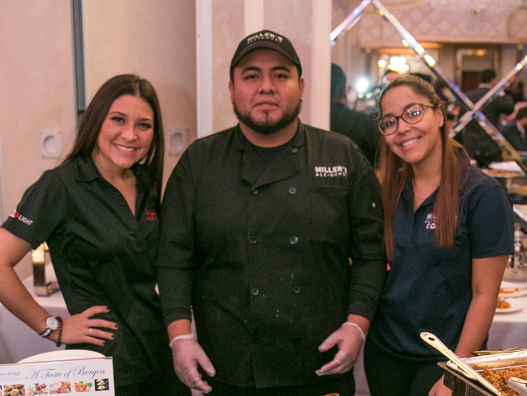 """Christen, Kevin, Eimmy - Miller's Ale House. The New Bridge Medical Center Foundation held its 10th Annual """"A Taste of Bergen"""" at The Venetian in Garfield. The evening featured celebrity chef Chris Holland, the 2017 Grand Champion of the Food Network's """"Chopped."""" 11/12/2018"""