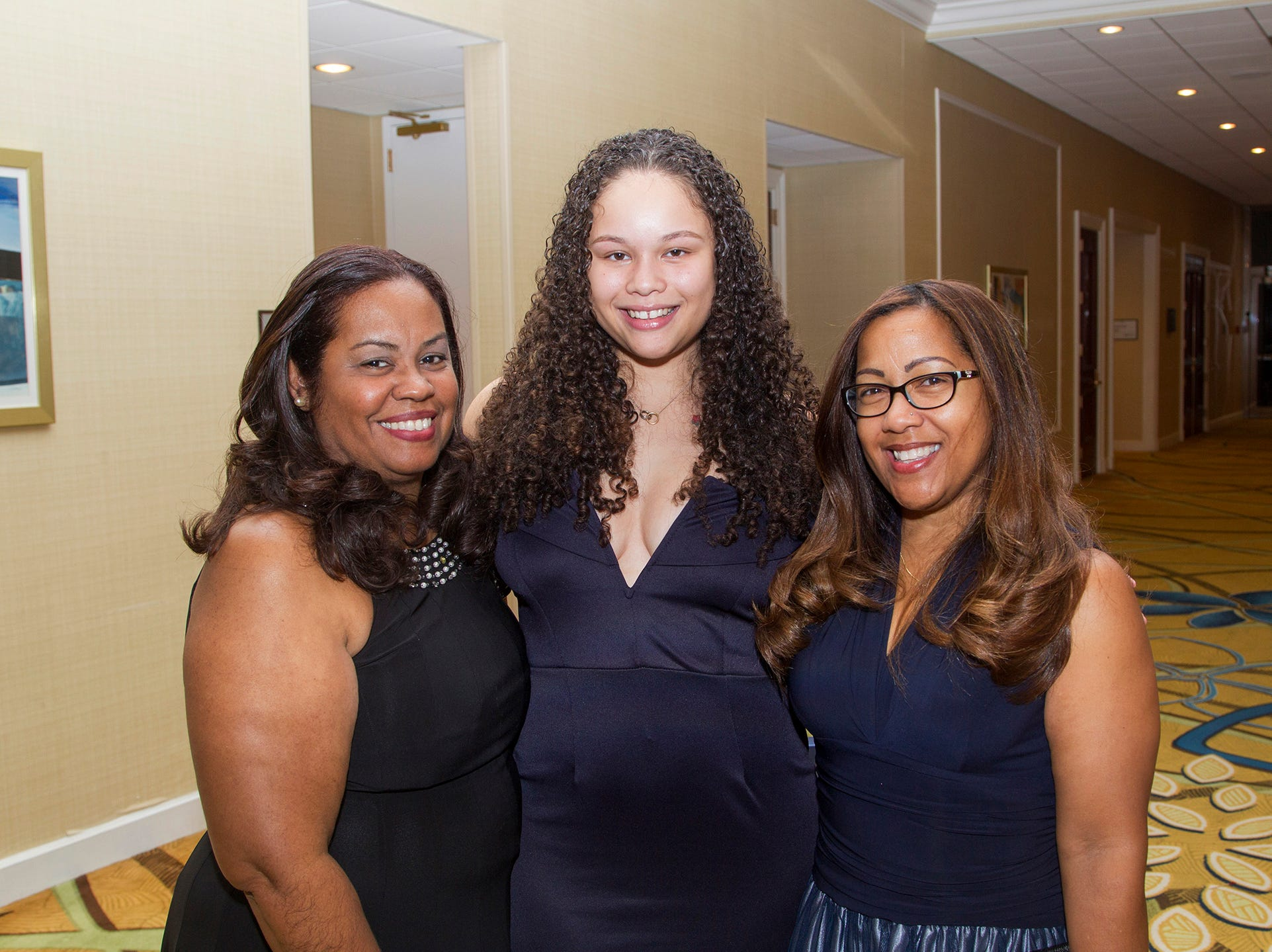 Beatrice Lopez, Kailey Veras, Rosa Veras. Jessie Banks Foundation holds 16th annual Scholarship Awards Gala in Teaneck. 11/09/2018