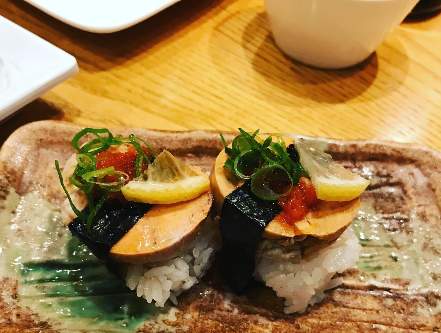 As creamy as foie gras: monkfish liver at Sakura Bana in Ridgewood