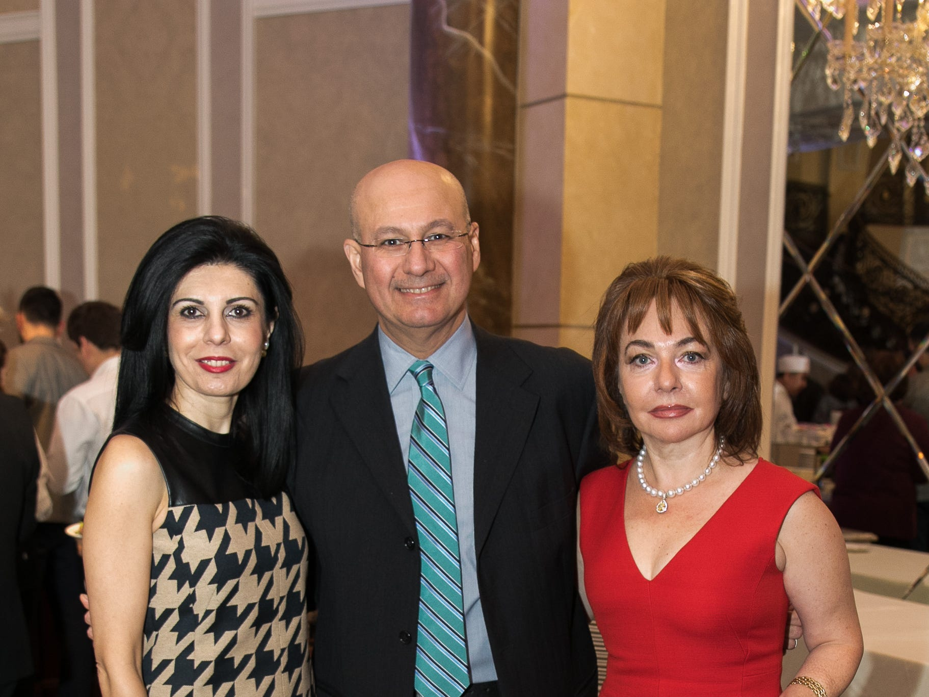 "Dr. Anna Harutyunyan, Dr. M. Saeed, Dr. Rarine Airapetian. The New Bridge Medical Center Foundation held its 10th Annual ""A Taste of Bergen"" at The Venetian in Garfield. The evening featured celebrity chef Chris Holland, the 2017 Grand Champion of the Food Network's ""Chopped."" 11/12/2018"