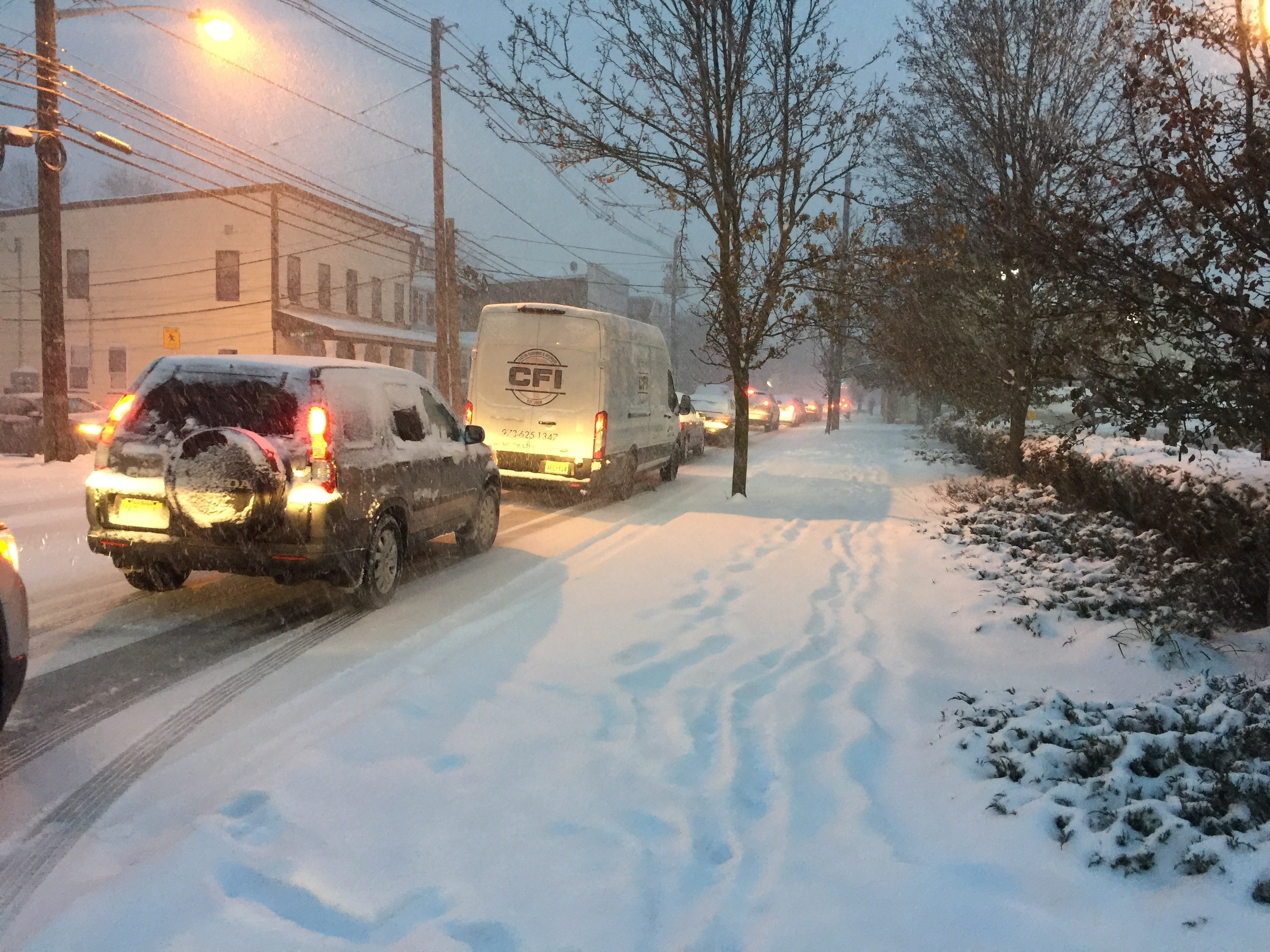 Traffic was at standstill shortly before 5 p.m. on Valley Road in Montclair on Thursday, Nov. 15, 2018.
