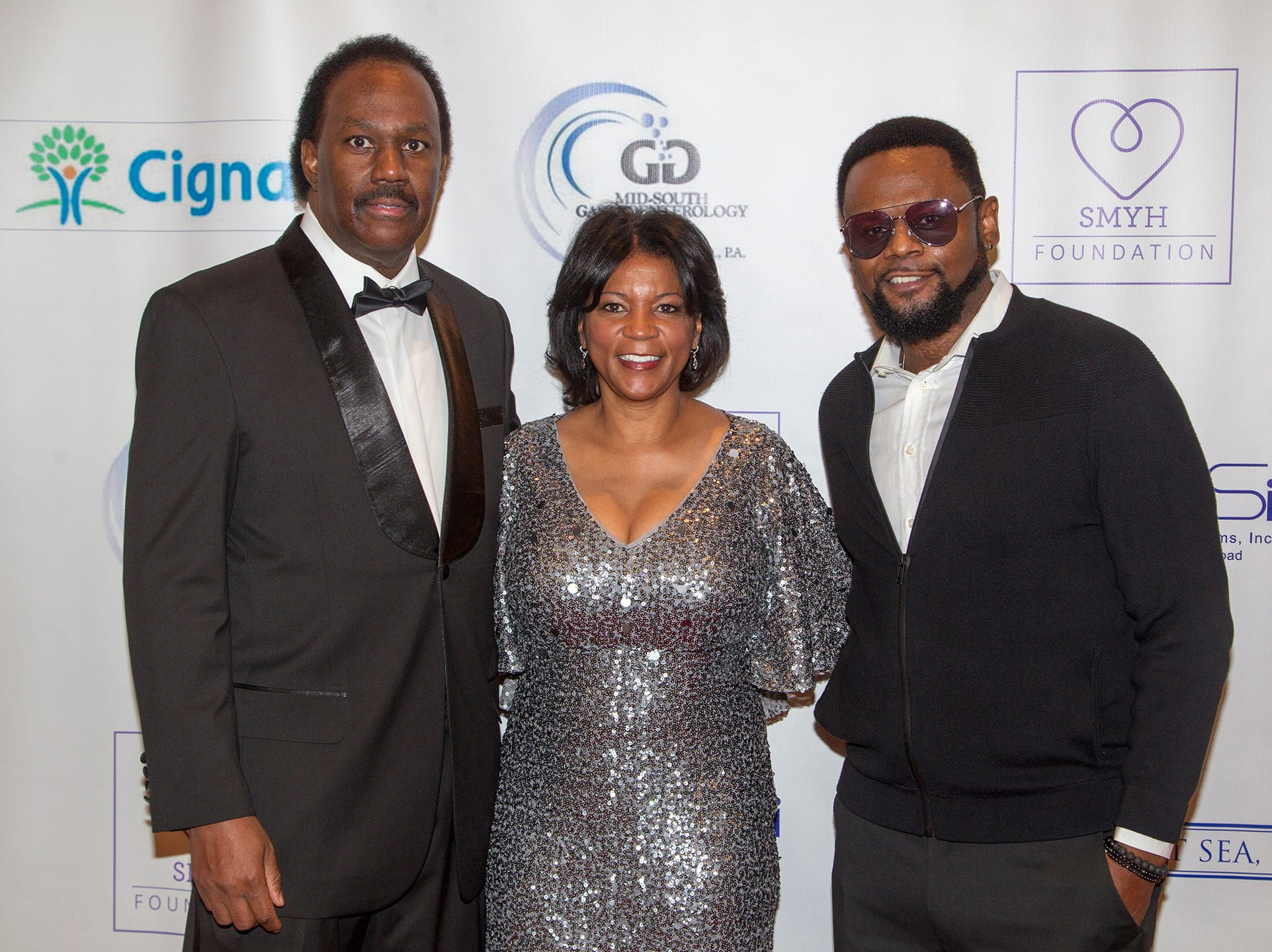 Anthony and Belinda Tate and Carl Thomas. Jessie Banks Foundation holds 16th annual Scholarship Awards Gala in Teaneck. 11/09/2018