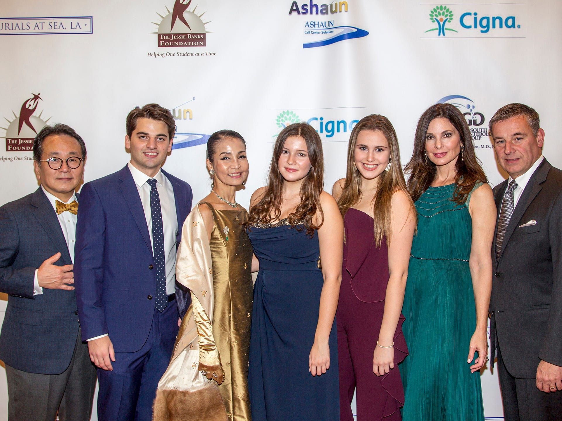 Dr. Mingi Choi, Mrs Heather Won Choi, Catherine, Lily, Christine and Dr. Dante  Implicito. Jessie Banks Foundation holds 16th annual Scholarship Awards Gala in Teaneck. 11/09/2018