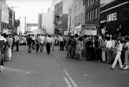 Stones fans outside the Capitol Theatre in Passaic on June 14, 1978.