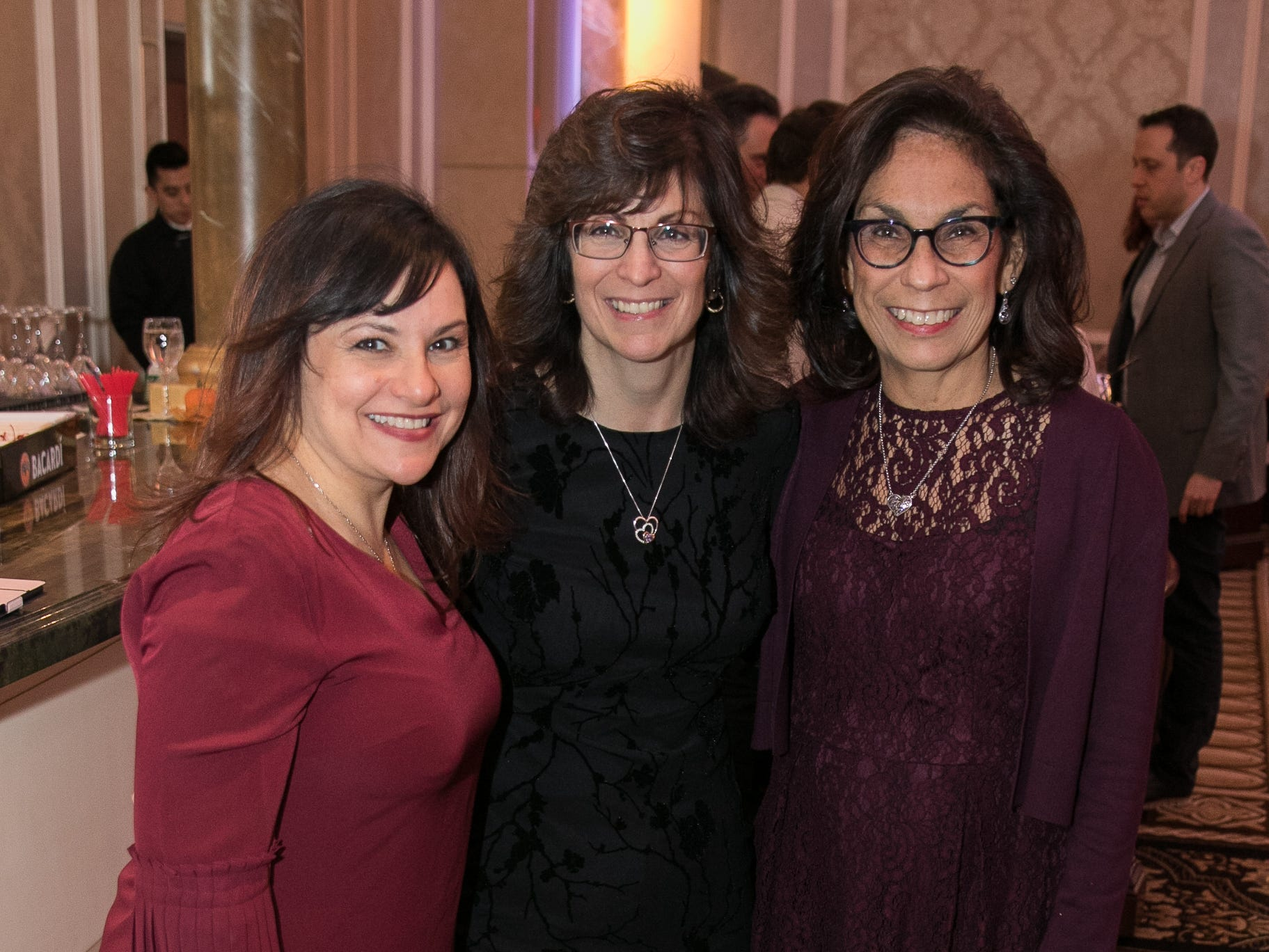 """Rosemary Klie, Donna Lee Corrieri, CEO- Debbie Visconi. The New Bridge Medical Center Foundation held its 10th Annual """"A Taste of Bergen"""" at The Venetian in Garfield. The evening featured celebrity chef Chris Holland, the 2017 Grand Champion of the Food Network's """"Chopped."""" 11/12/2018"""
