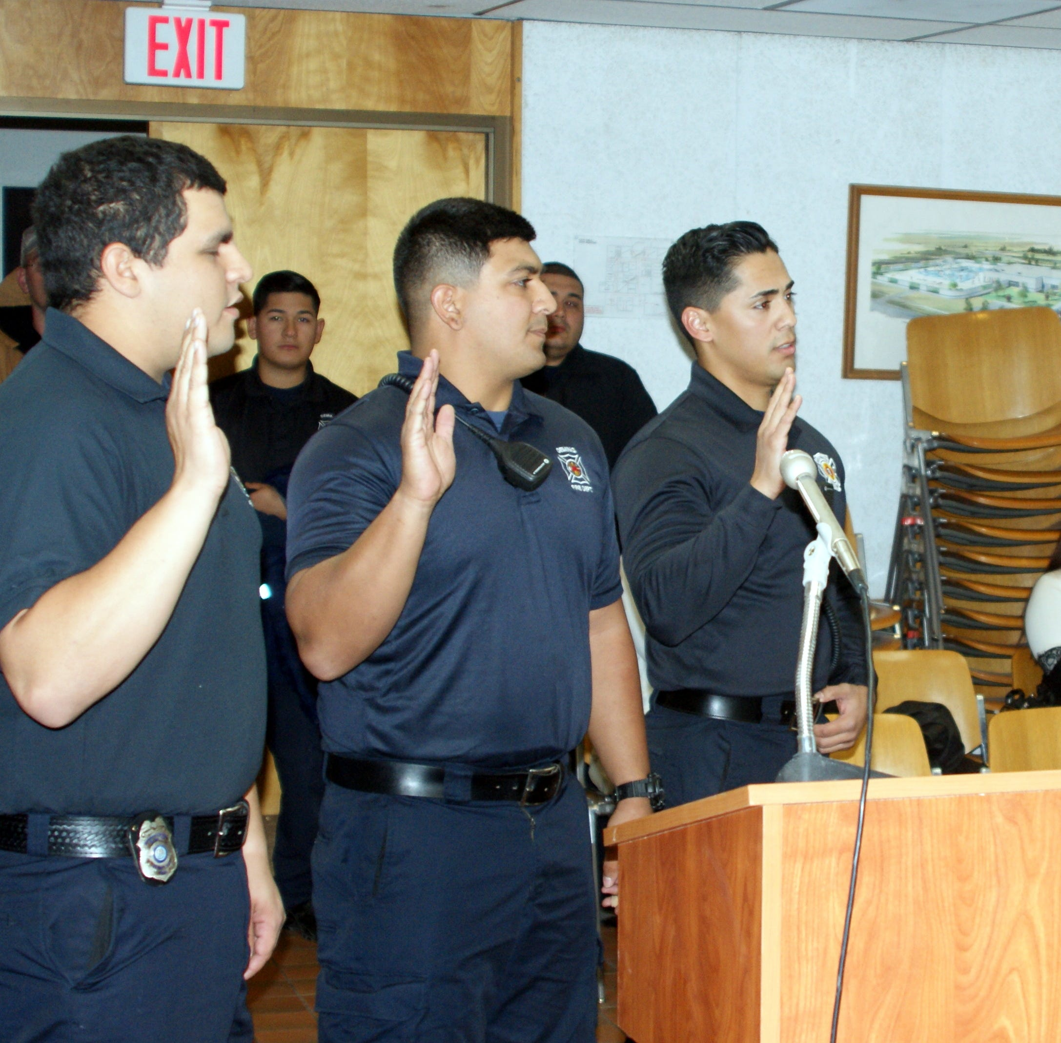 Three new Deming Firefighter/EMTs sworn-in at Deming City Council meeting