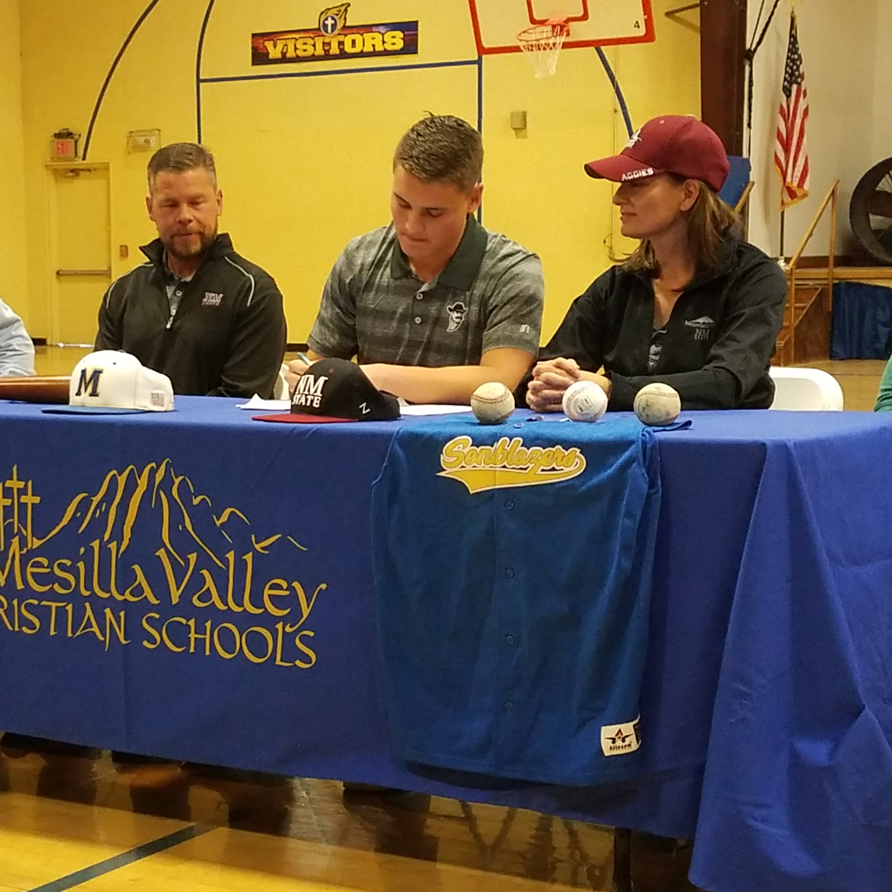 Mesilla Valley Christian's Josh Castillo signs with New Mexico State baseball